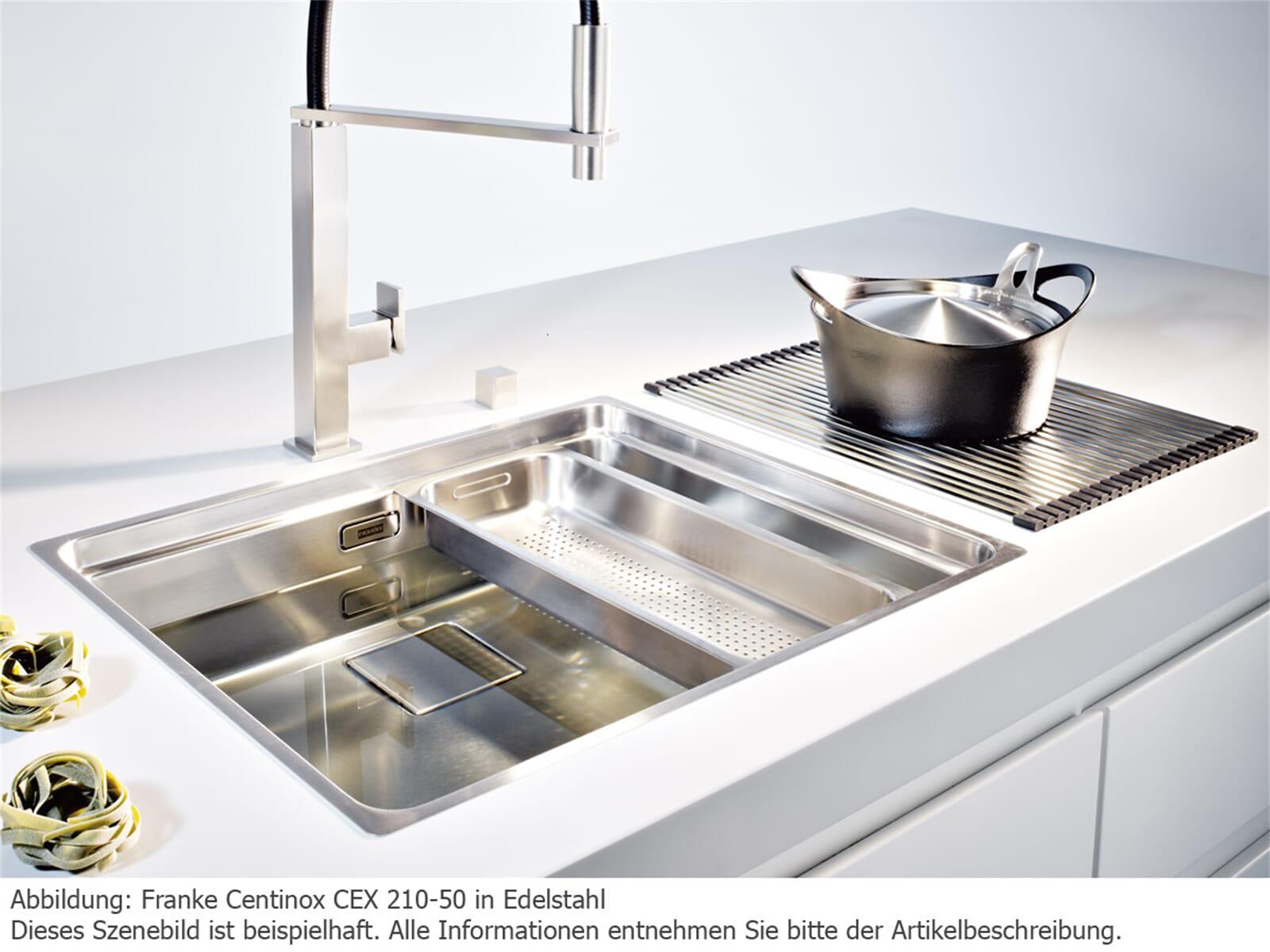 franke centinox cex 210 50 edelstahl sp le fl chenb ndig k chensp le sp ltisch ebay. Black Bedroom Furniture Sets. Home Design Ideas