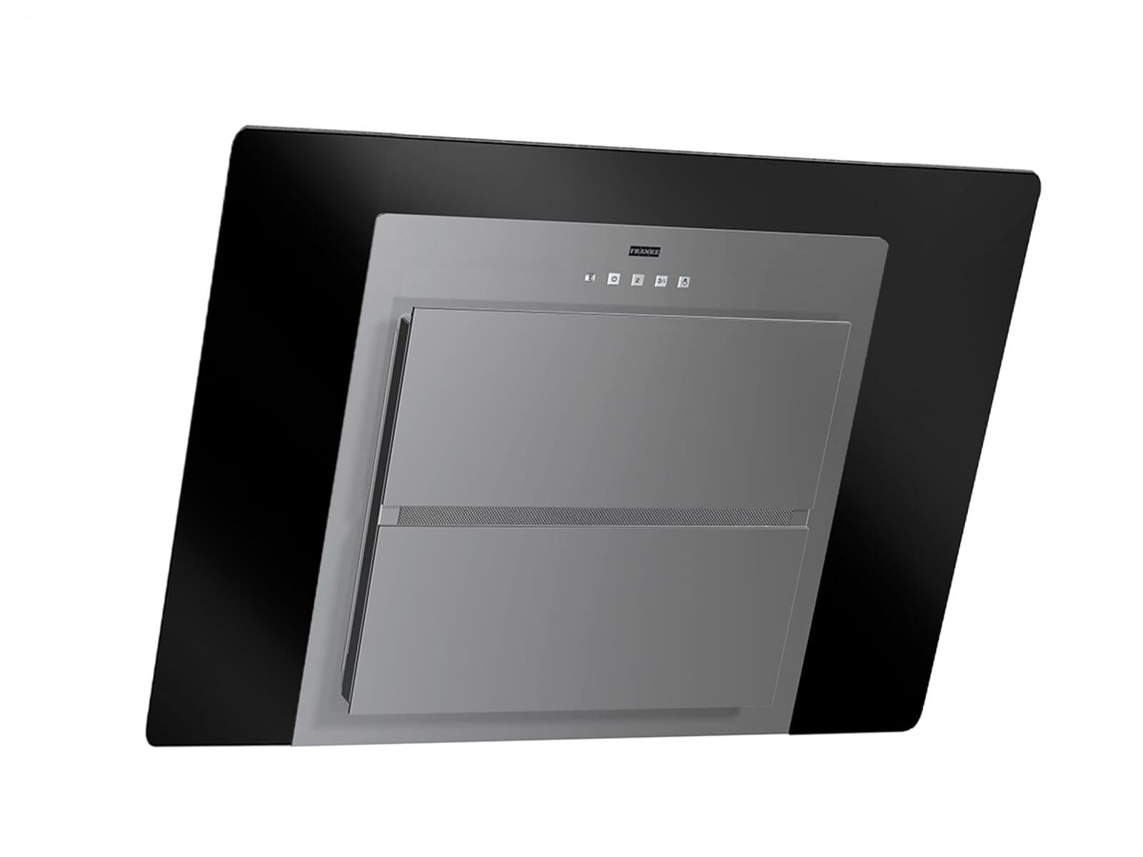 franke fusion ffu 605 bk xs kopffreihaube schwarz edelstahl wandesse dunstabzug. Black Bedroom Furniture Sets. Home Design Ideas