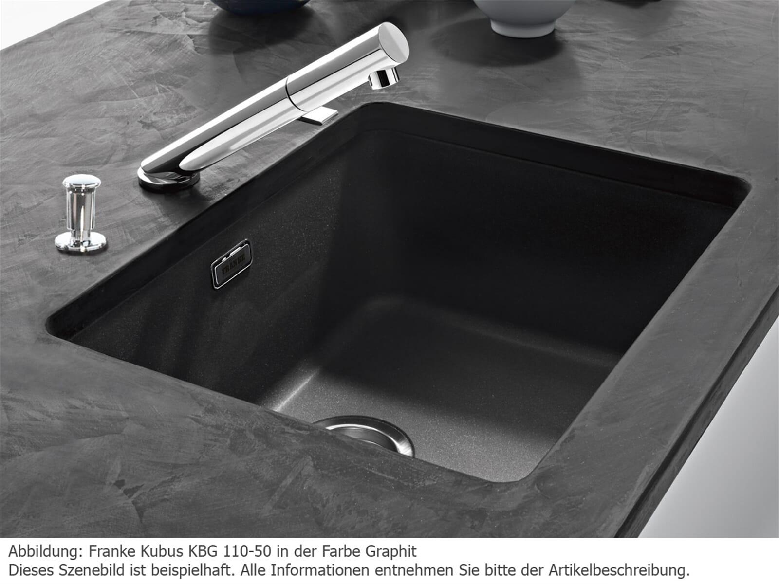 franke kubus kbg 110 50 onyx granit sp le f r 214 90 eur. Black Bedroom Furniture Sets. Home Design Ideas