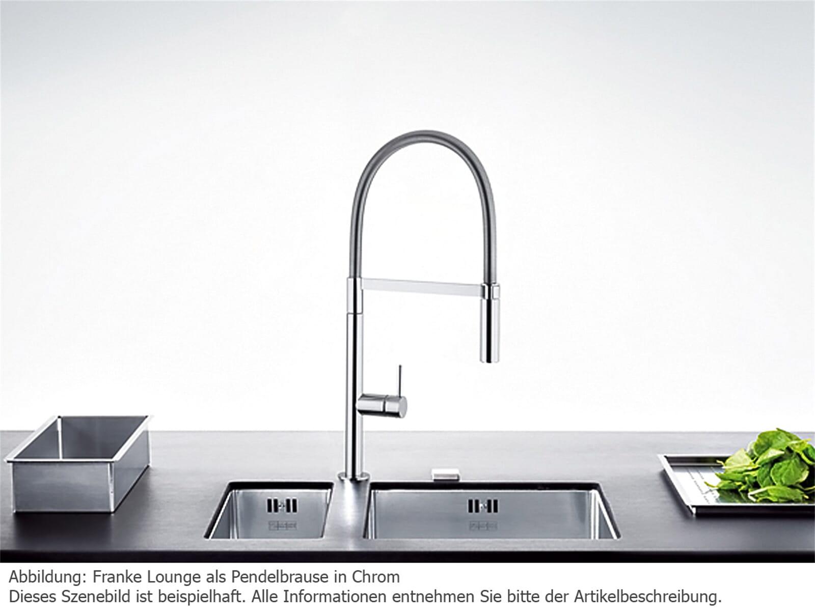 franke lounge edelstahl optik hochdruck armatur f r 248 90. Black Bedroom Furniture Sets. Home Design Ideas