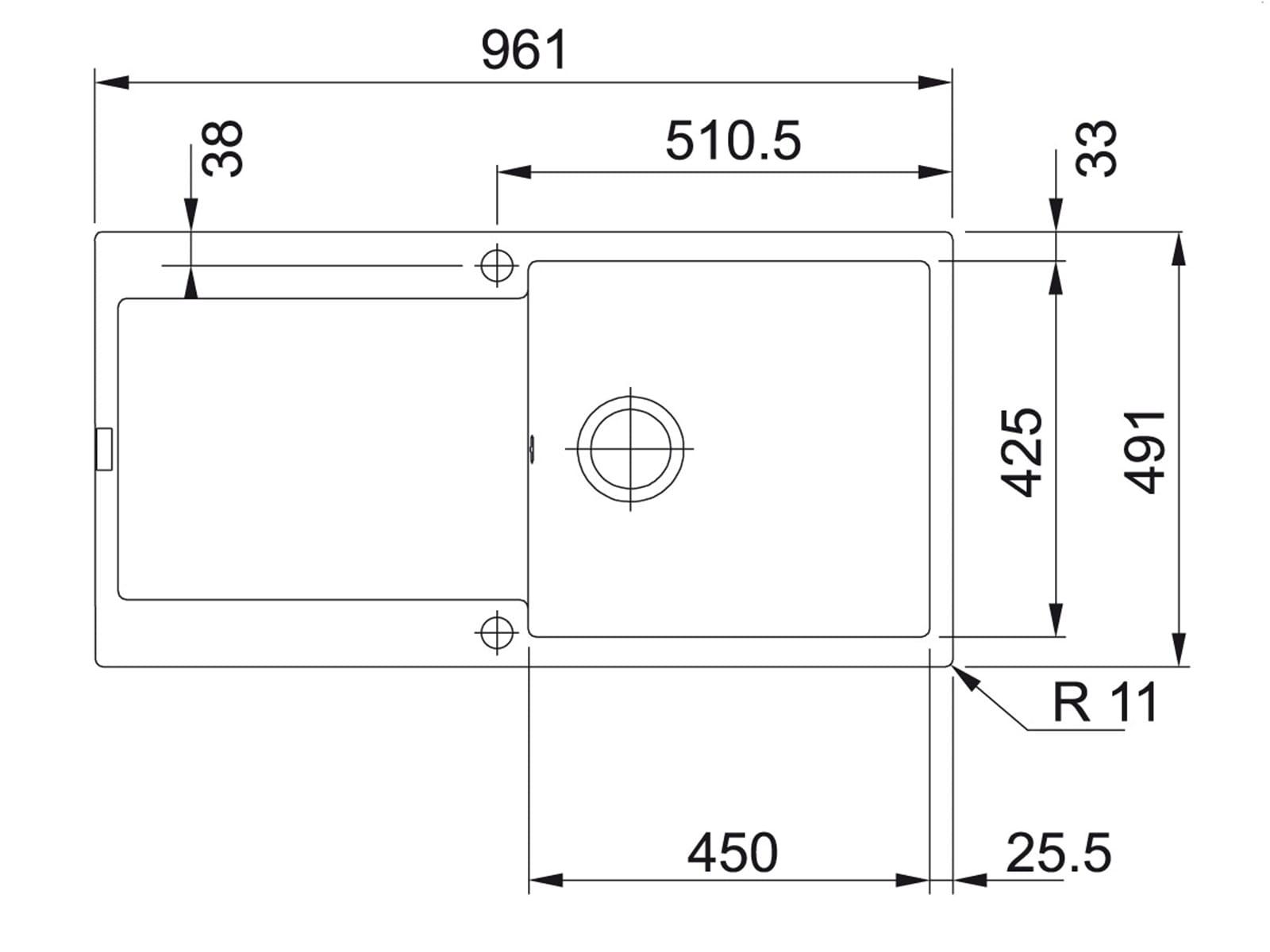 franke maris mrg 211 onyx granit sp le schwarz k chensp le sp lbecken sp ltisch ebay. Black Bedroom Furniture Sets. Home Design Ideas