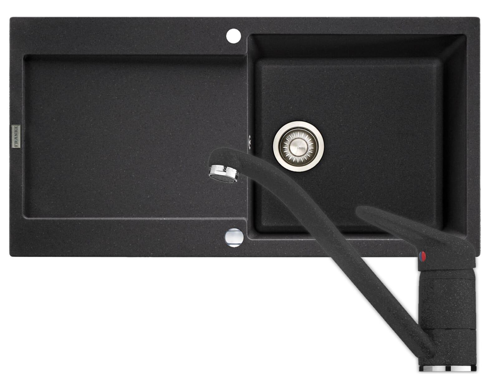 franke maris mrg 611 100 graphit granit sp le armatur. Black Bedroom Furniture Sets. Home Design Ideas