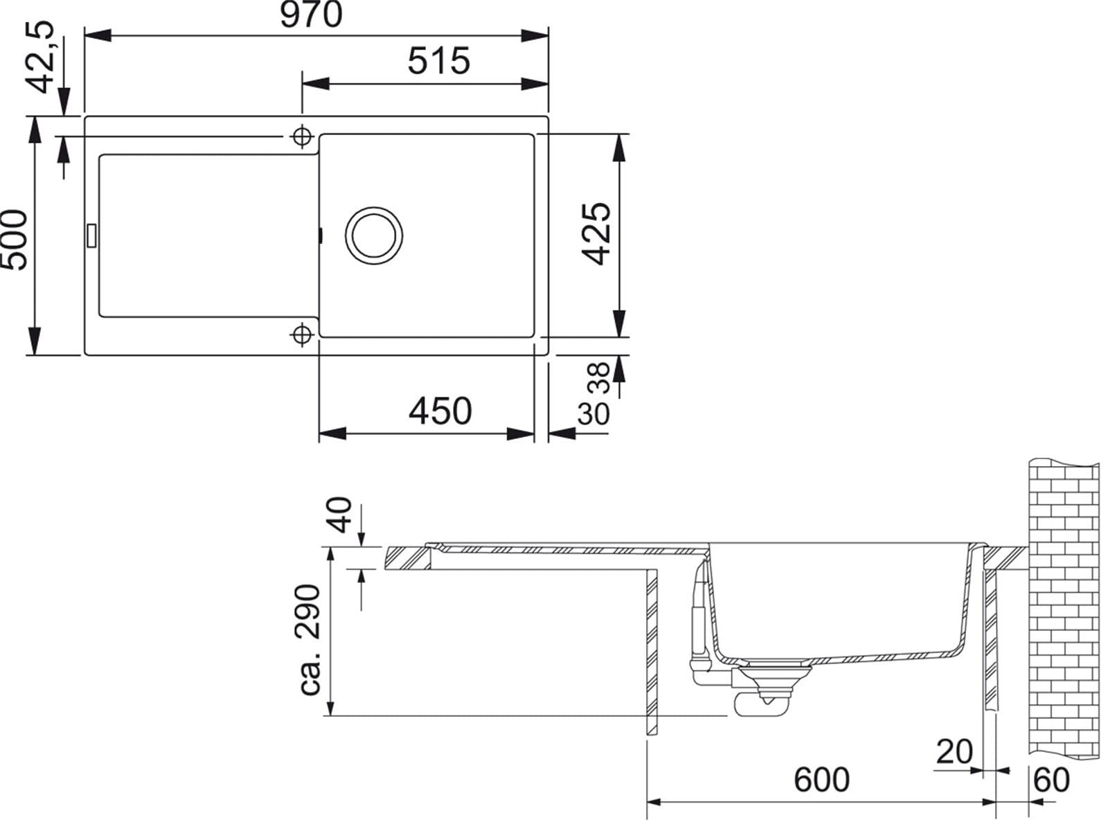 franke maris mrg 611 100 graphit granit sp le f r 188 90 eur. Black Bedroom Furniture Sets. Home Design Ideas