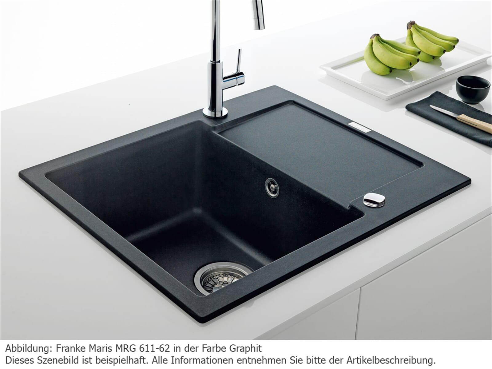 franke maris mrg 611 62 glacier fragranit sp le wei k chensp le auflagesp le ebay. Black Bedroom Furniture Sets. Home Design Ideas