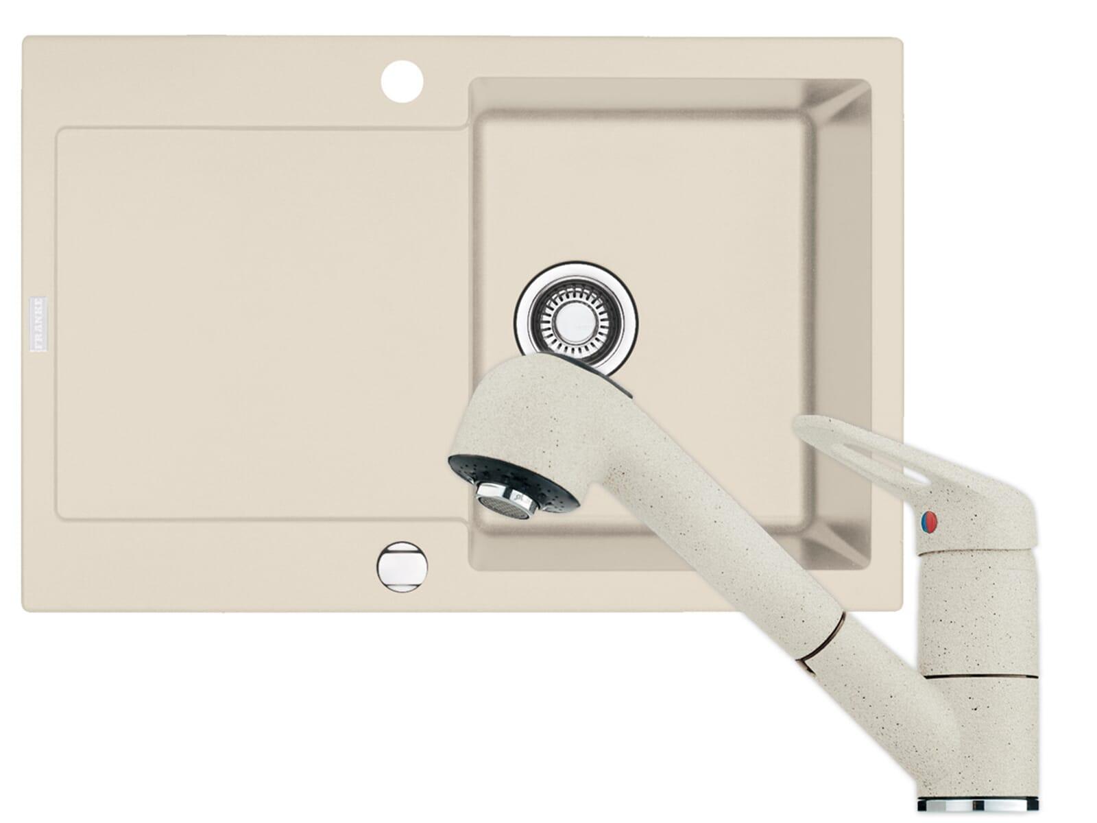 franke maris mrg 611 fragranit sp le armatur 740 sahara. Black Bedroom Furniture Sets. Home Design Ideas