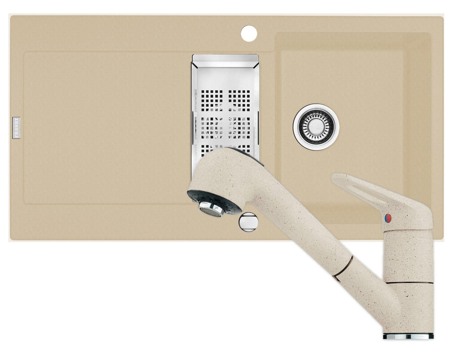 set franke fragranit sp le maris mrg 651 armatur 740. Black Bedroom Furniture Sets. Home Design Ideas