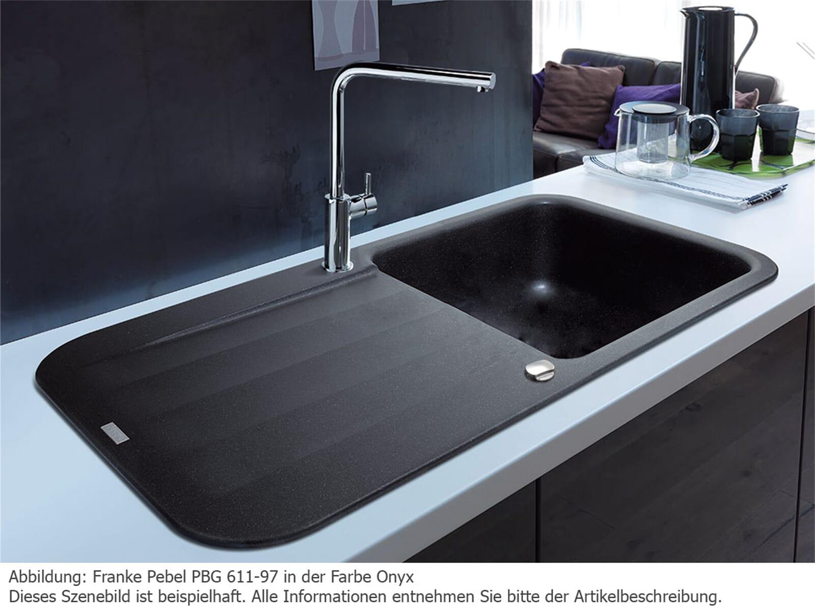 franke pebel pbg 611 97 glacier granit sp le f r 224 90 eur. Black Bedroom Furniture Sets. Home Design Ideas