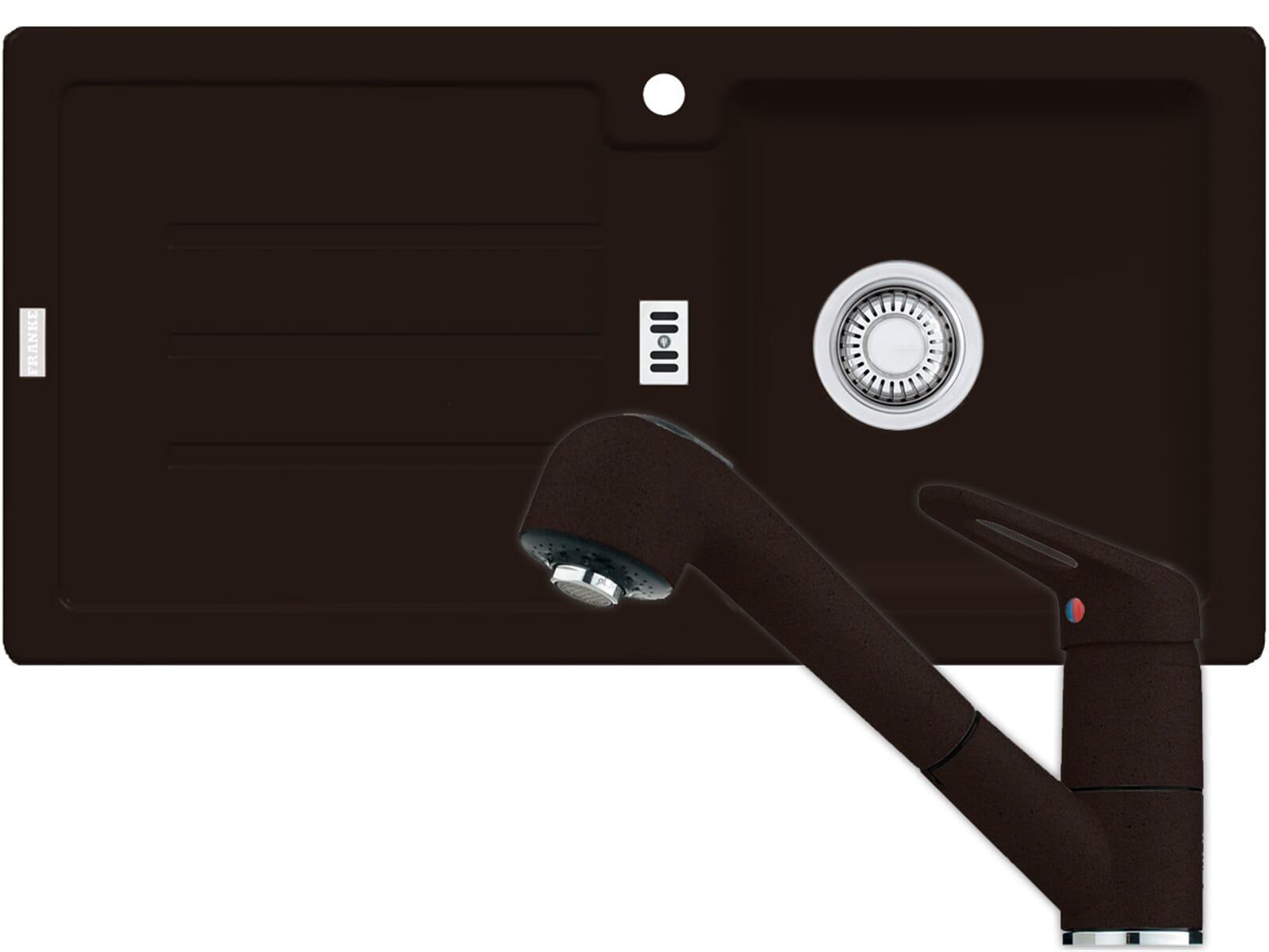 franke strata stg 614 chocolate sp le armatur 740 braun. Black Bedroom Furniture Sets. Home Design Ideas