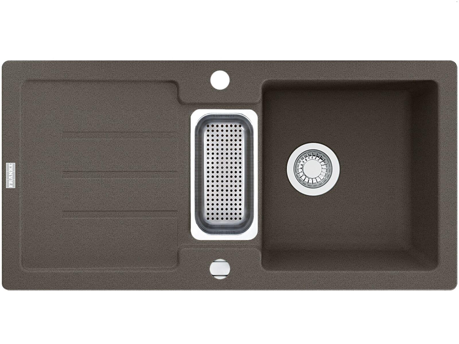 franke strata stg 651 86 umbra granit sp le sp lbecken k chensp le auflage grau ebay. Black Bedroom Furniture Sets. Home Design Ideas