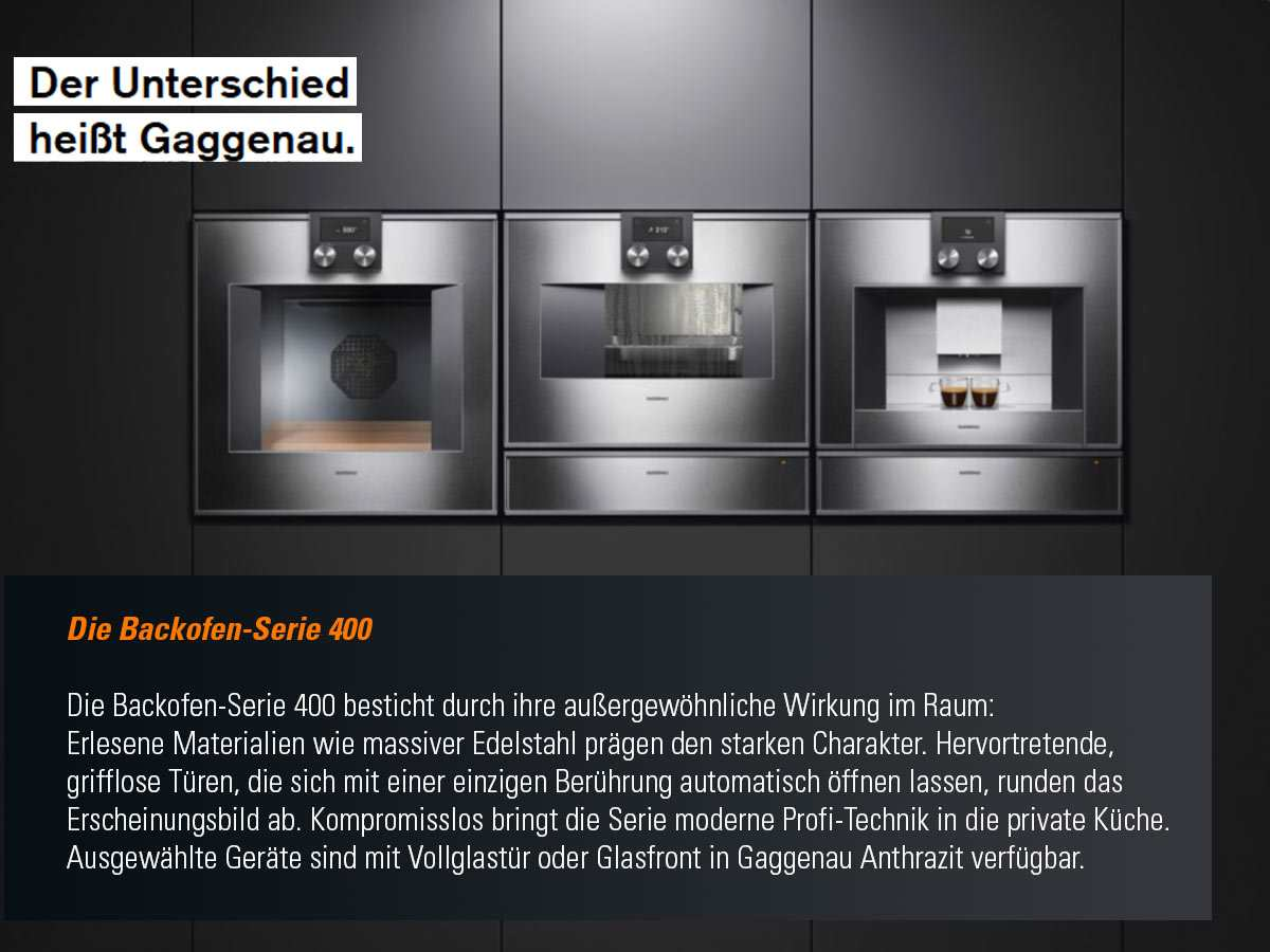 gaggenau bo 471 111 backofen serie 400 edelstahl glas f r 3130 20 eur. Black Bedroom Furniture Sets. Home Design Ideas