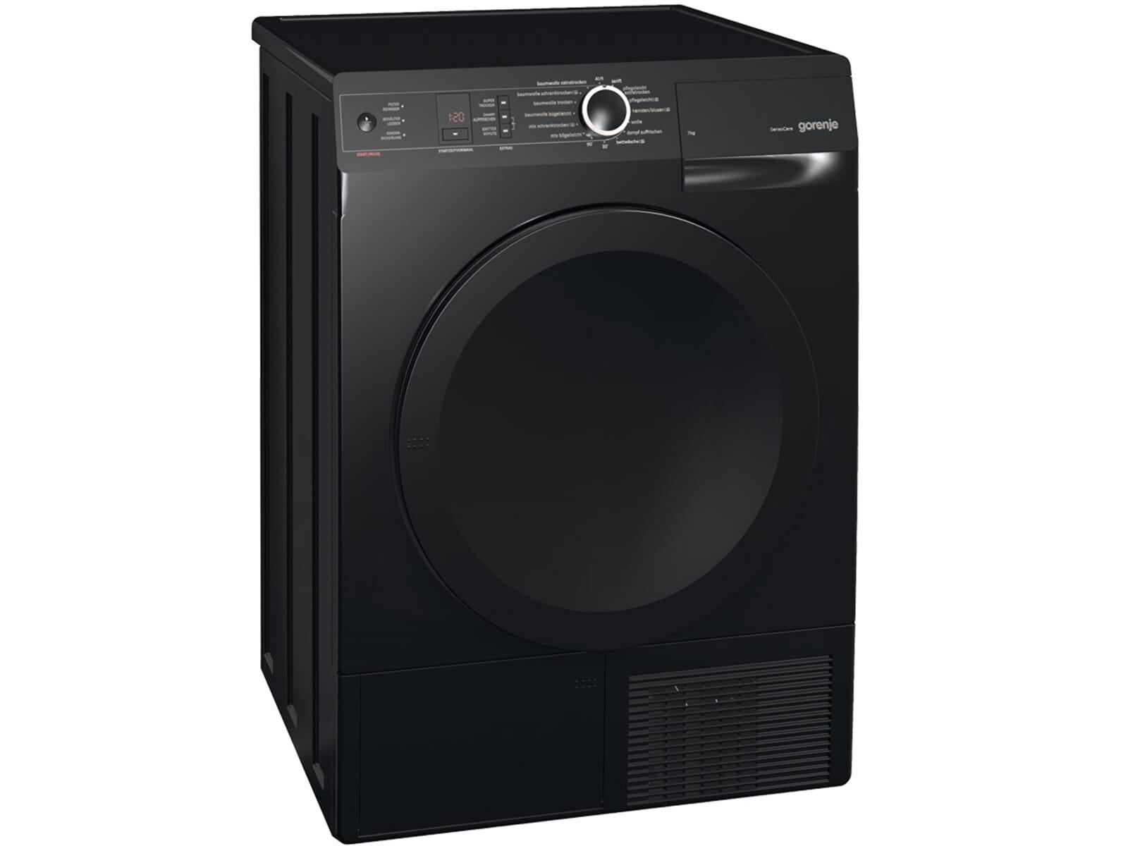gorenje d 7565 nb stand trockner schwarz. Black Bedroom Furniture Sets. Home Design Ideas