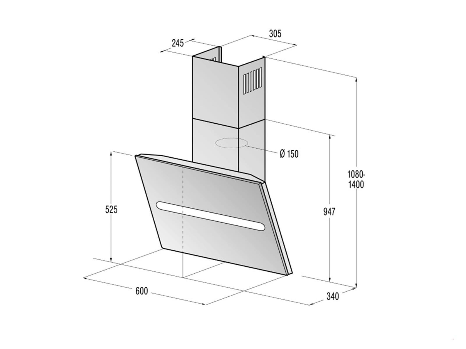 gorenje dvg 6540 bi kopffrei wand dunstabzugshaube edelstahl glas schwarz ebay. Black Bedroom Furniture Sets. Home Design Ideas