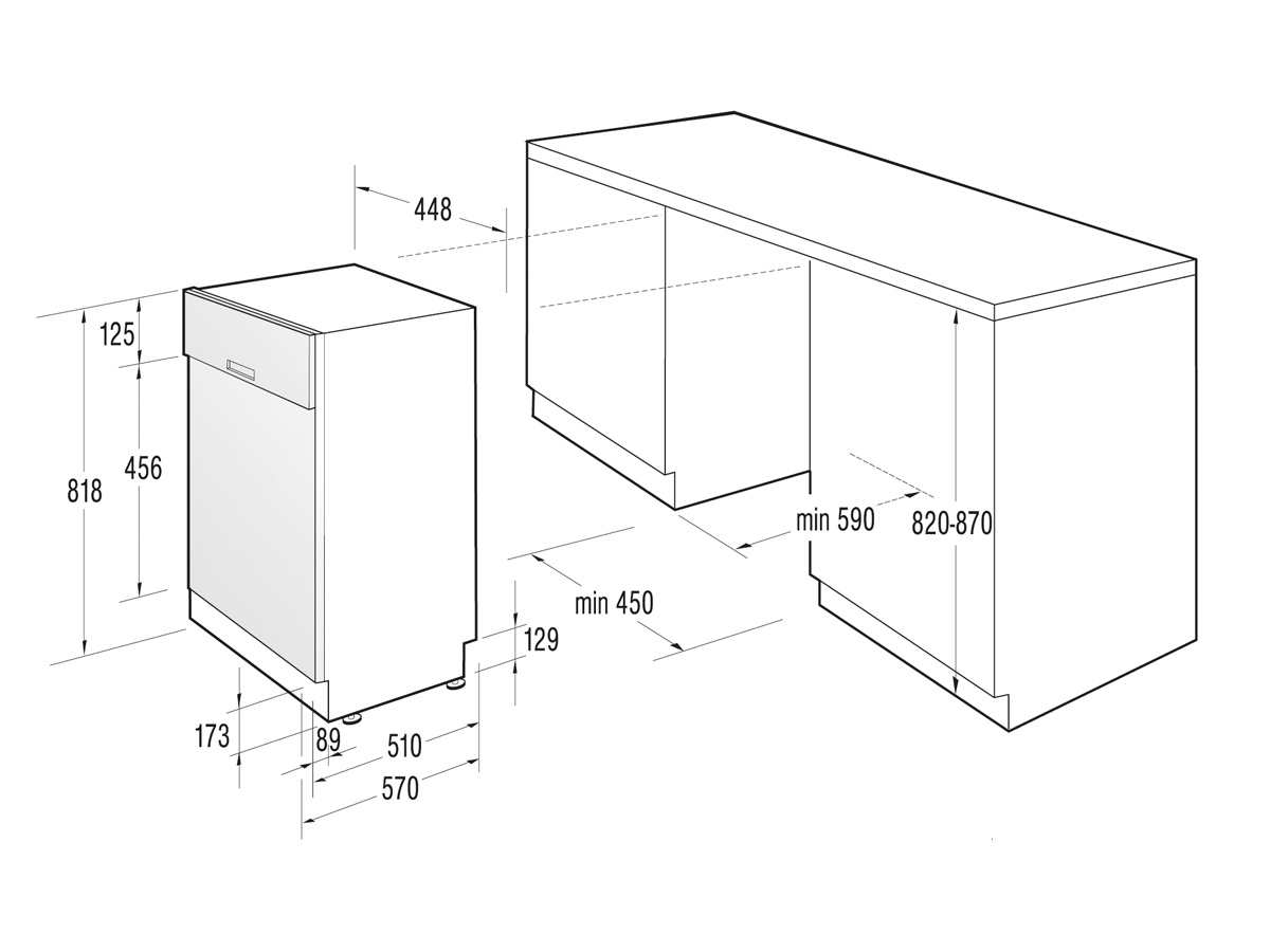 gorenje gi 50110 x teilintegrierbarer einbau. Black Bedroom Furniture Sets. Home Design Ideas