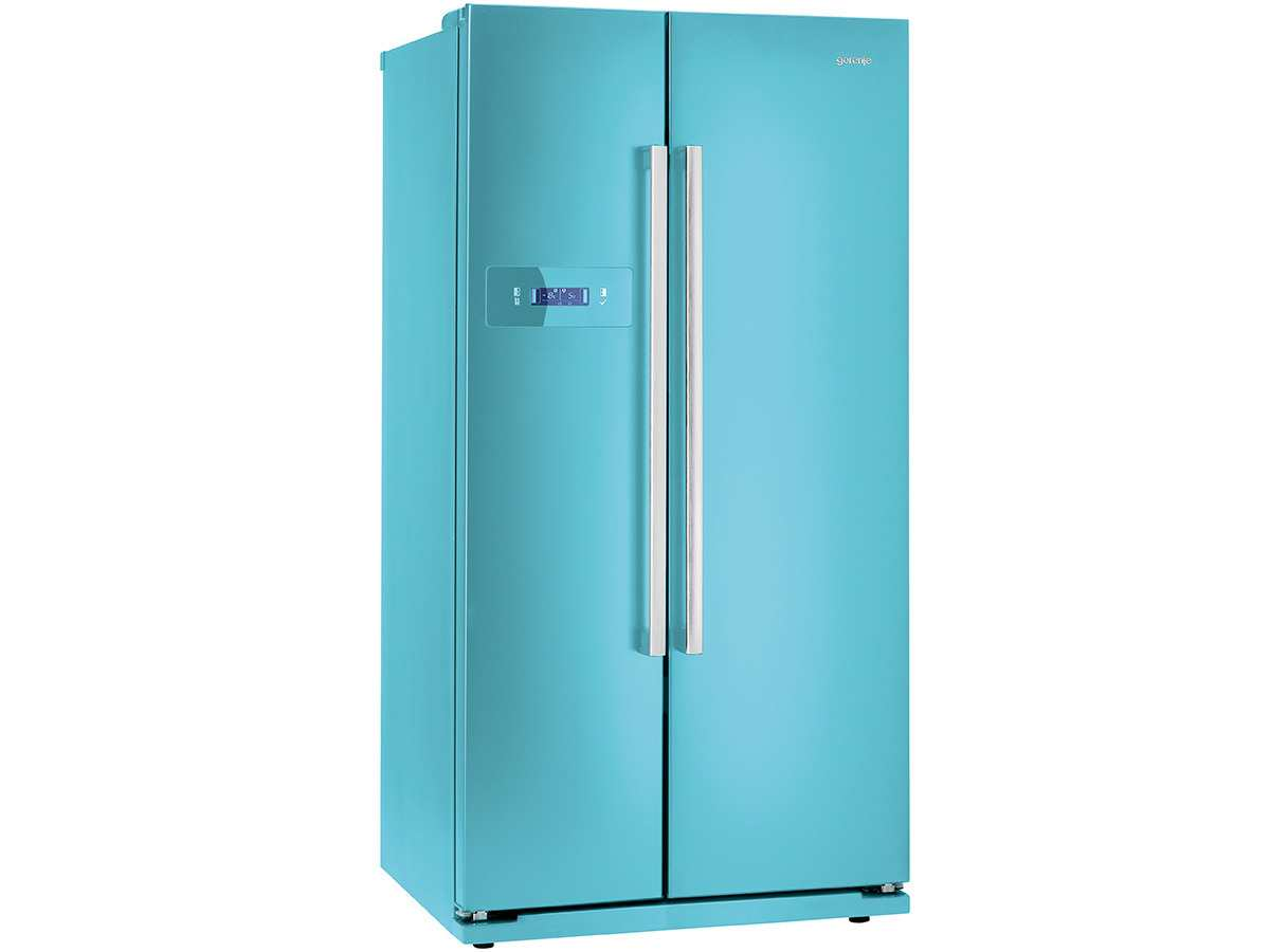gorenje nrs 85728 bl side by side k hl gefrier kombination blau k hlschrank blau ebay. Black Bedroom Furniture Sets. Home Design Ideas