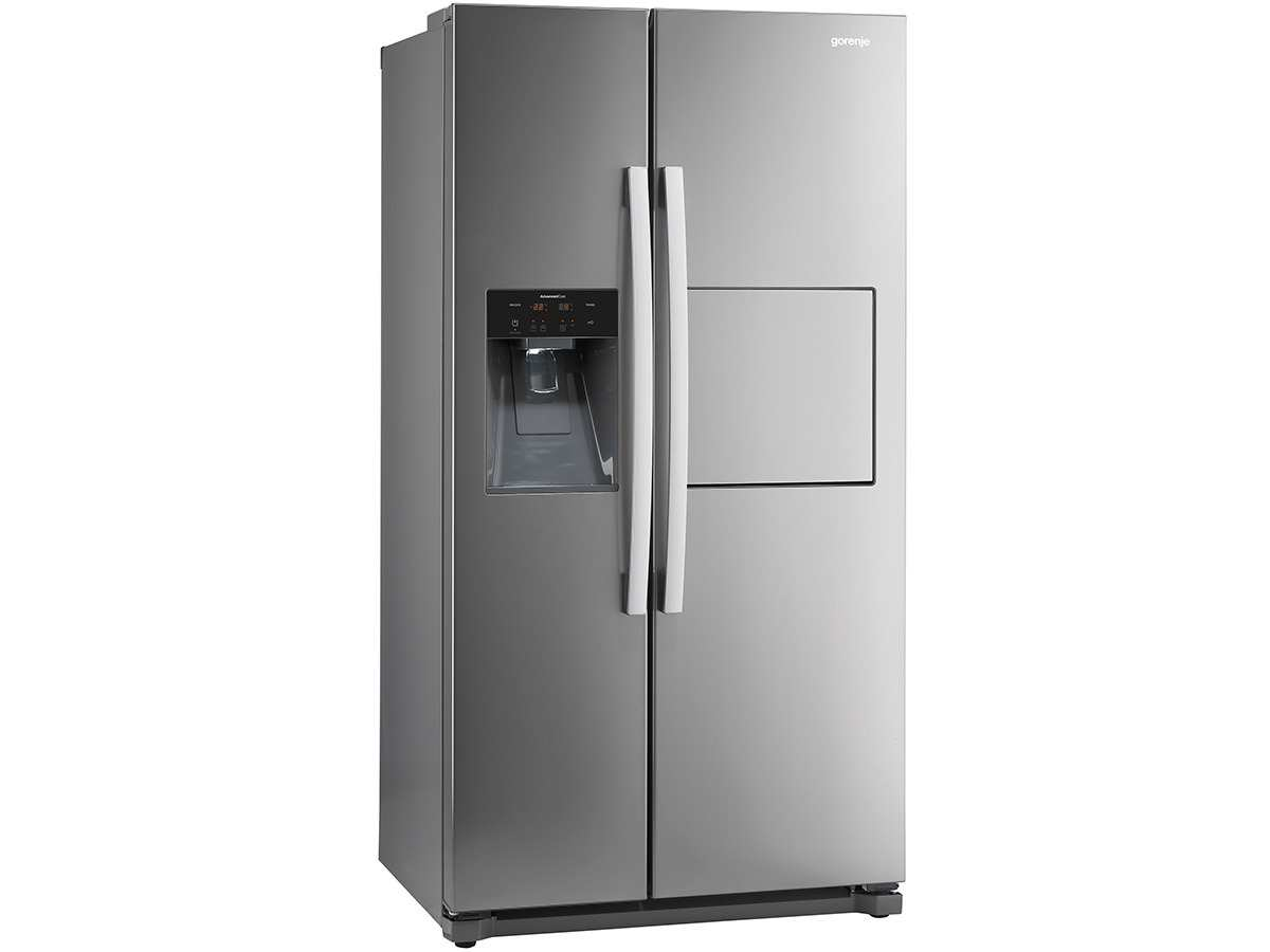 gorenje nrs 9182 cxb side by side k hl gefrier kombination inox k hlschrank ebay. Black Bedroom Furniture Sets. Home Design Ideas