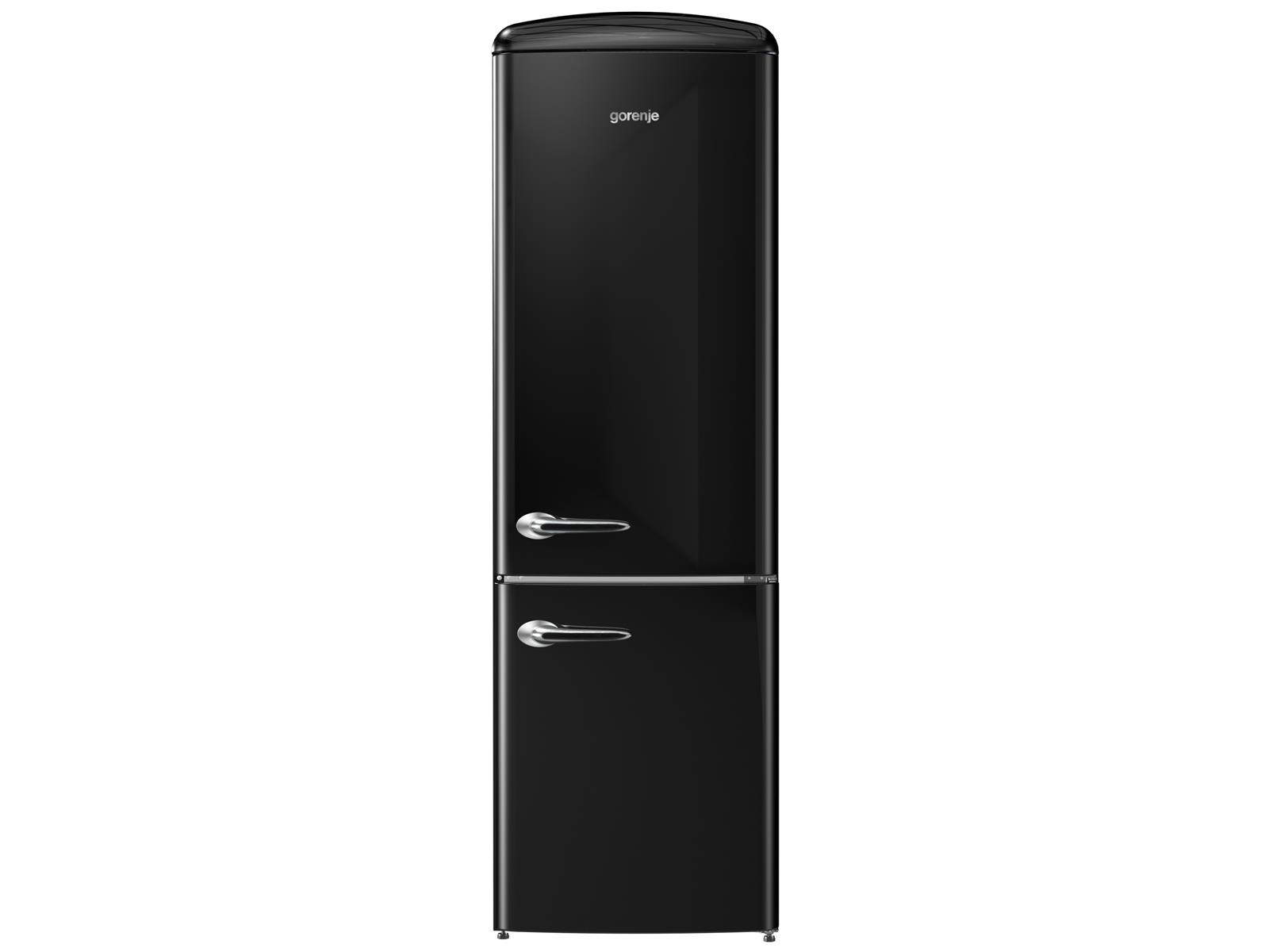 gorenje onrk 193 bk stand k hl gefrier kombination black schwarz k hlschrank ebay. Black Bedroom Furniture Sets. Home Design Ideas