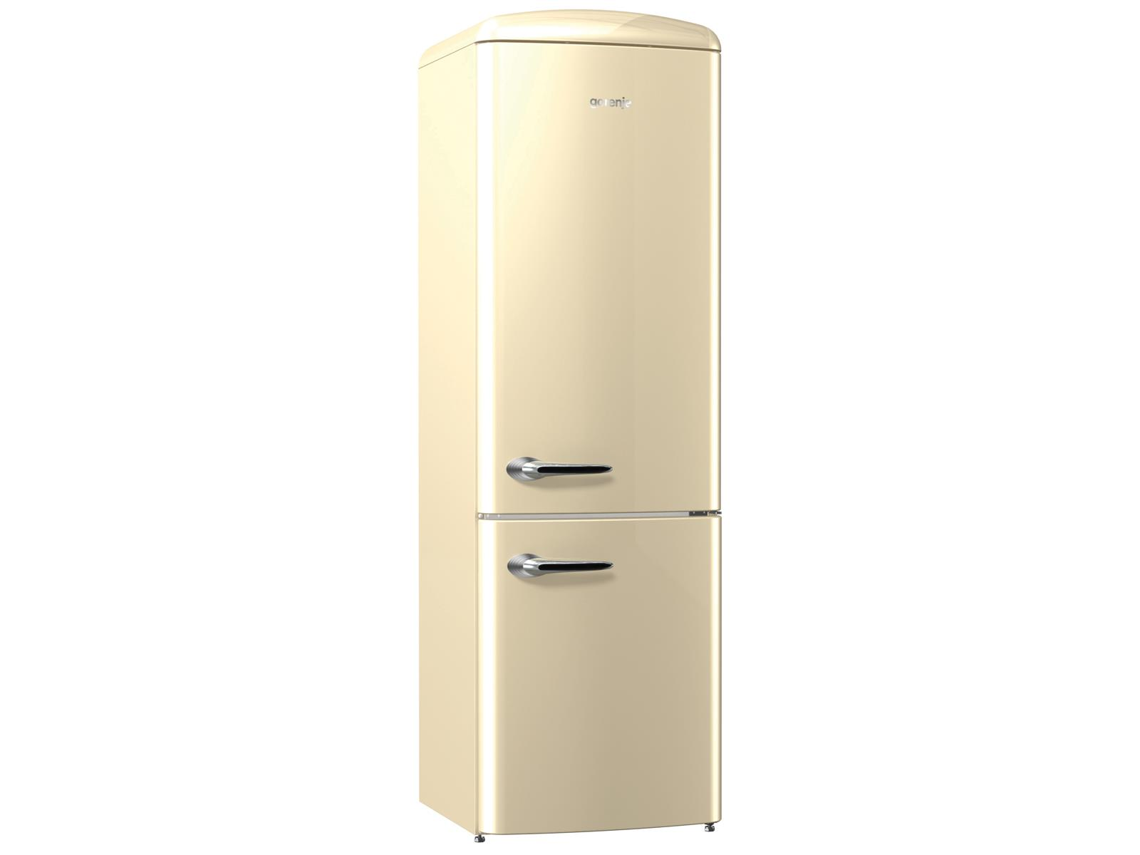 gorenje ork 193 c stand k hl gefrier kombination champagne k hlschrank beige ebay. Black Bedroom Furniture Sets. Home Design Ideas
