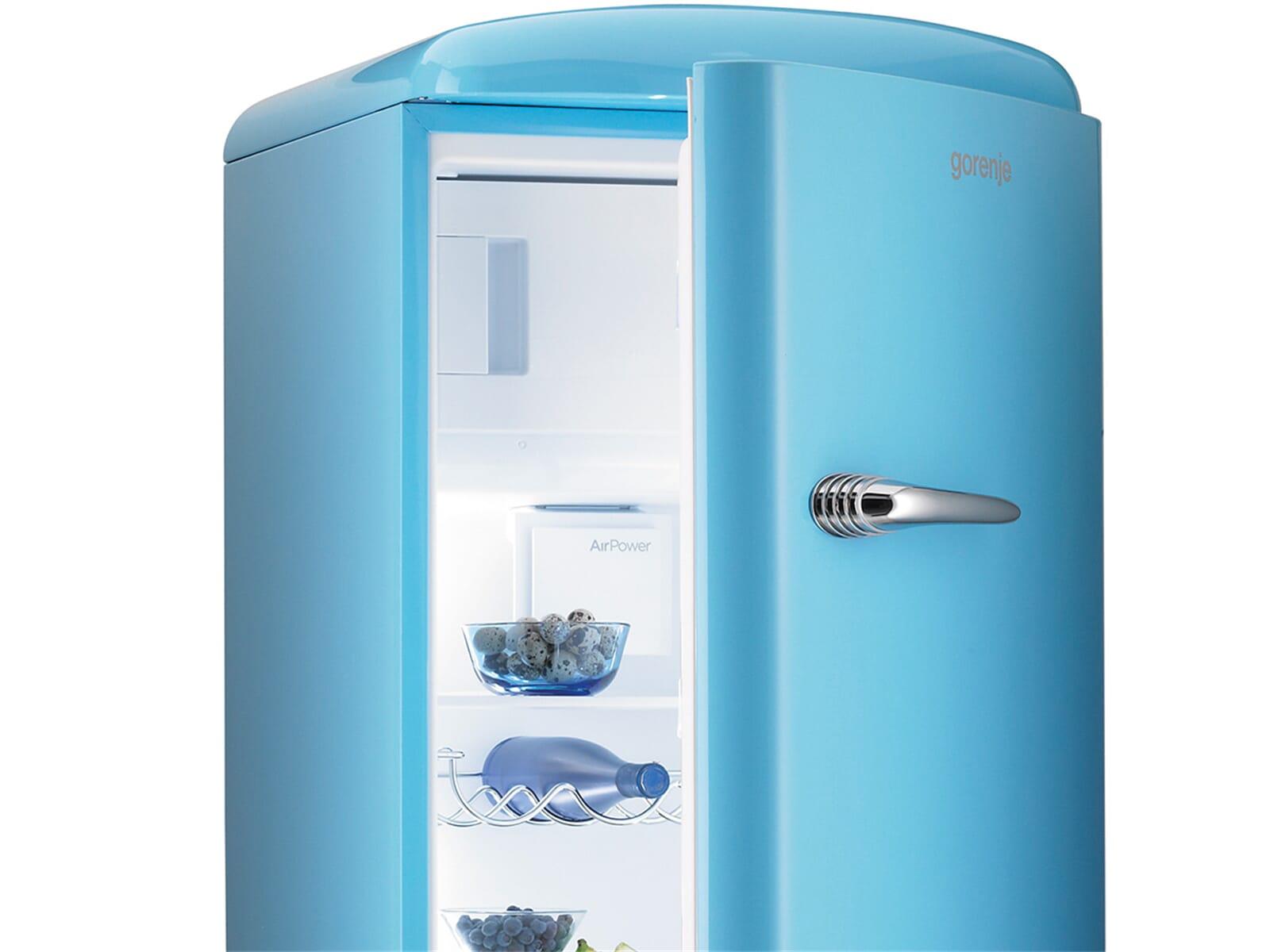 Amerikanischer Kühlschrank Blau : Kühlschrank blau gorenje heck donna