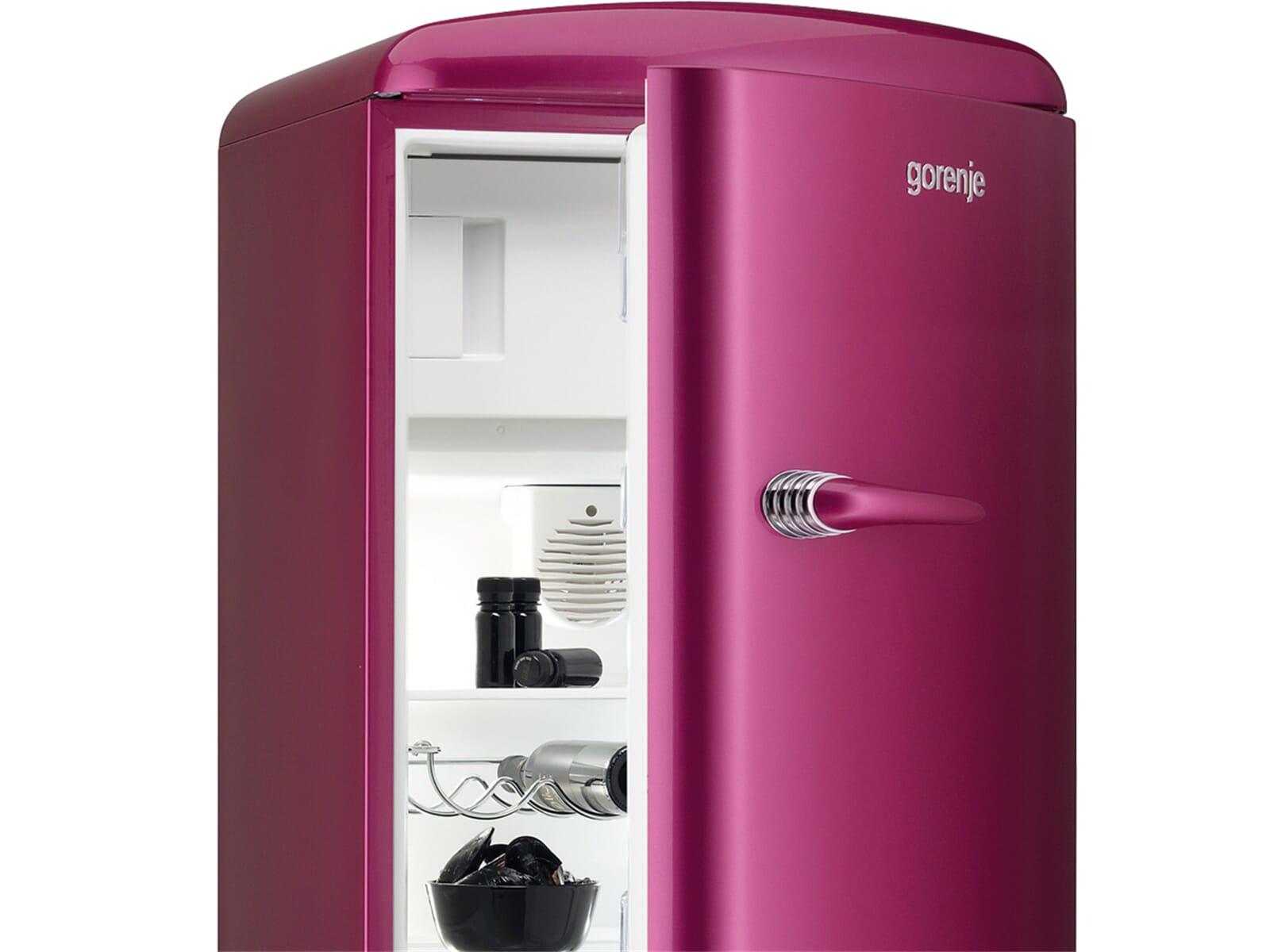 gorenje rb 60299 op stand k hlschrank pink ebay. Black Bedroom Furniture Sets. Home Design Ideas