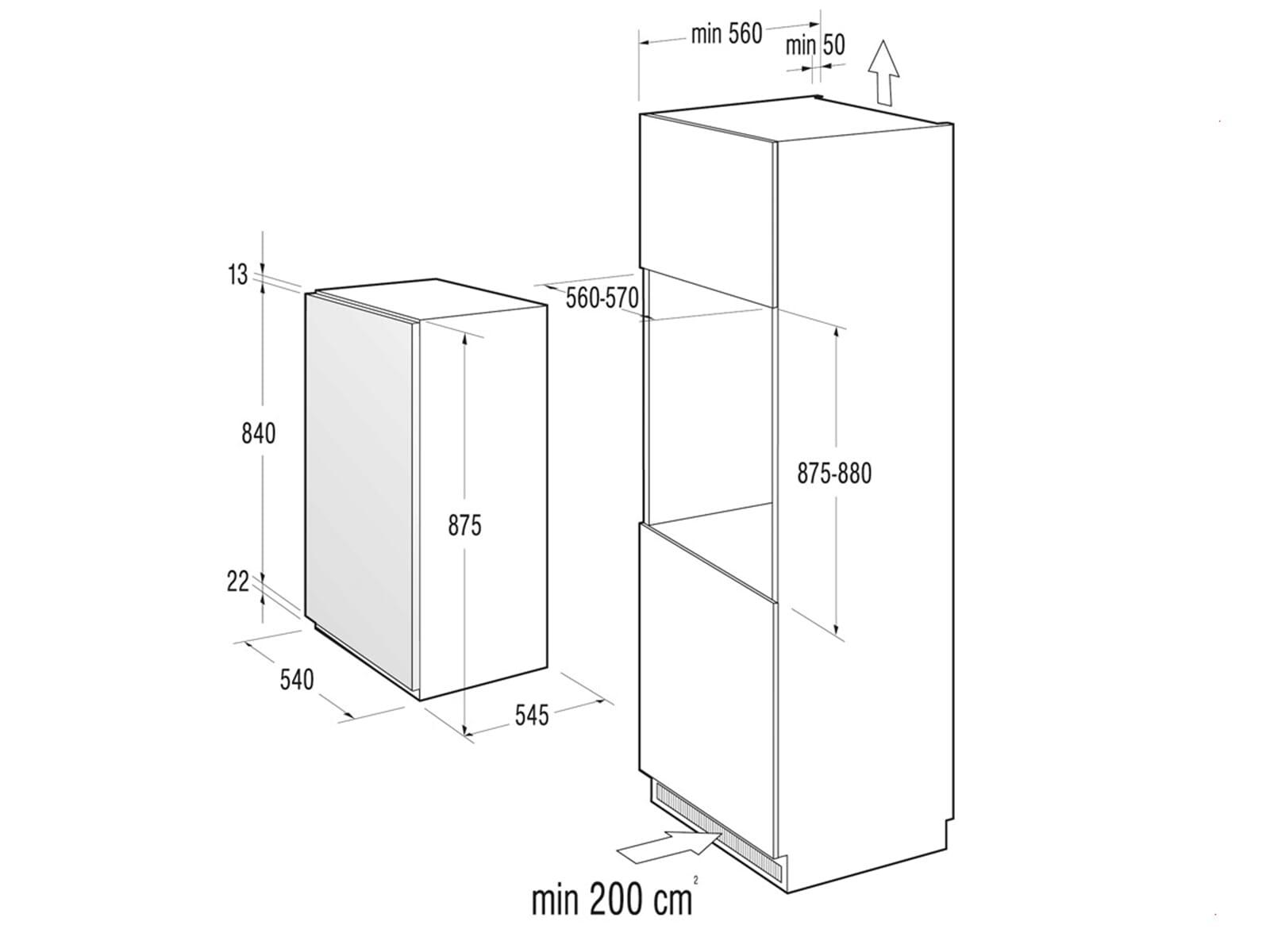 gorenje rbi 4093 aw einbau k hlschrank ebay. Black Bedroom Furniture Sets. Home Design Ideas