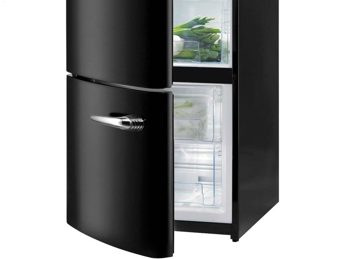gorenje rk 60319 obk l stand k hl gefrier kombination schwarz k hlschrank ebay. Black Bedroom Furniture Sets. Home Design Ideas