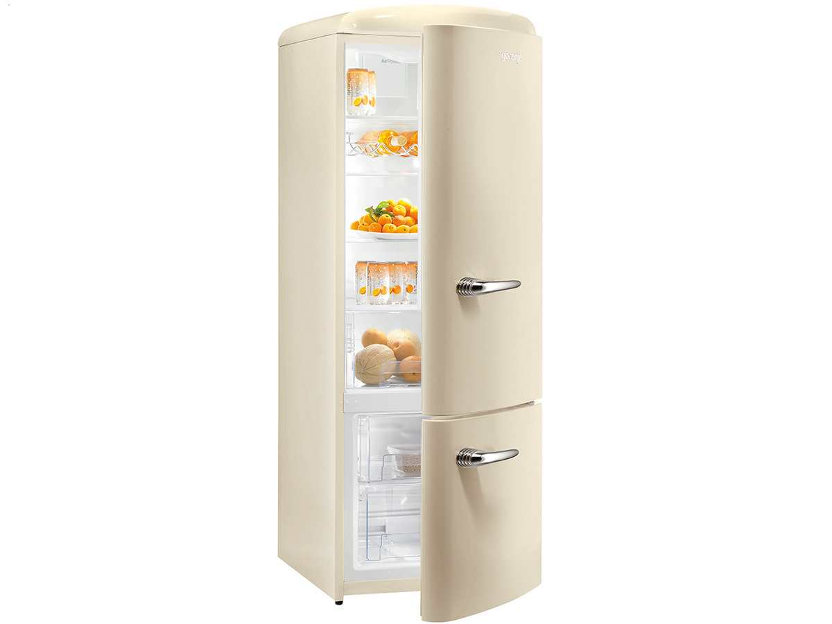 gorenje rk 60319 oc stand k hl gefrier kombination beige f r 718 90 eur. Black Bedroom Furniture Sets. Home Design Ideas