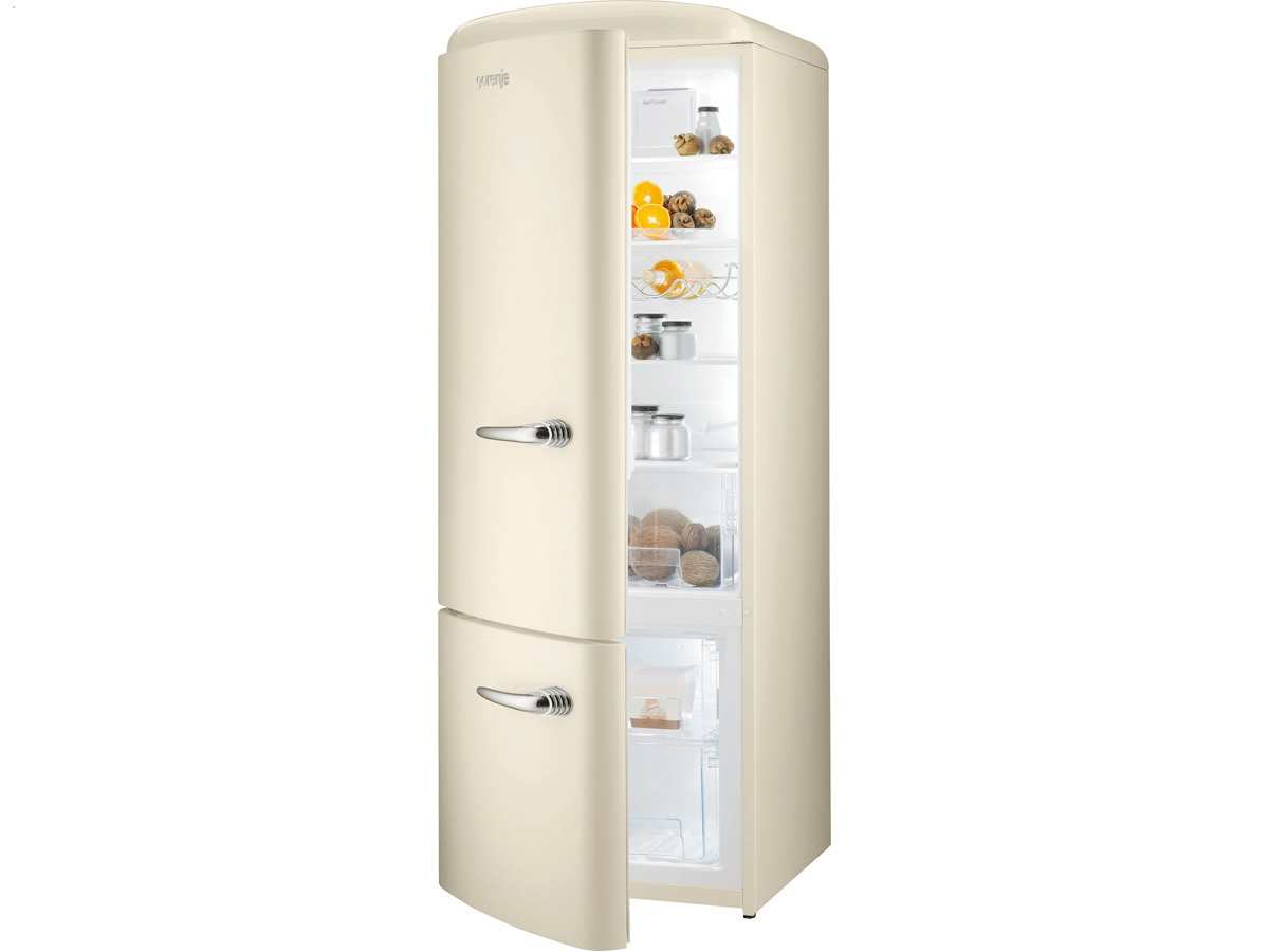 gorenje rk 60319 oc l stand k hl gefrier kombination beige ebay. Black Bedroom Furniture Sets. Home Design Ideas
