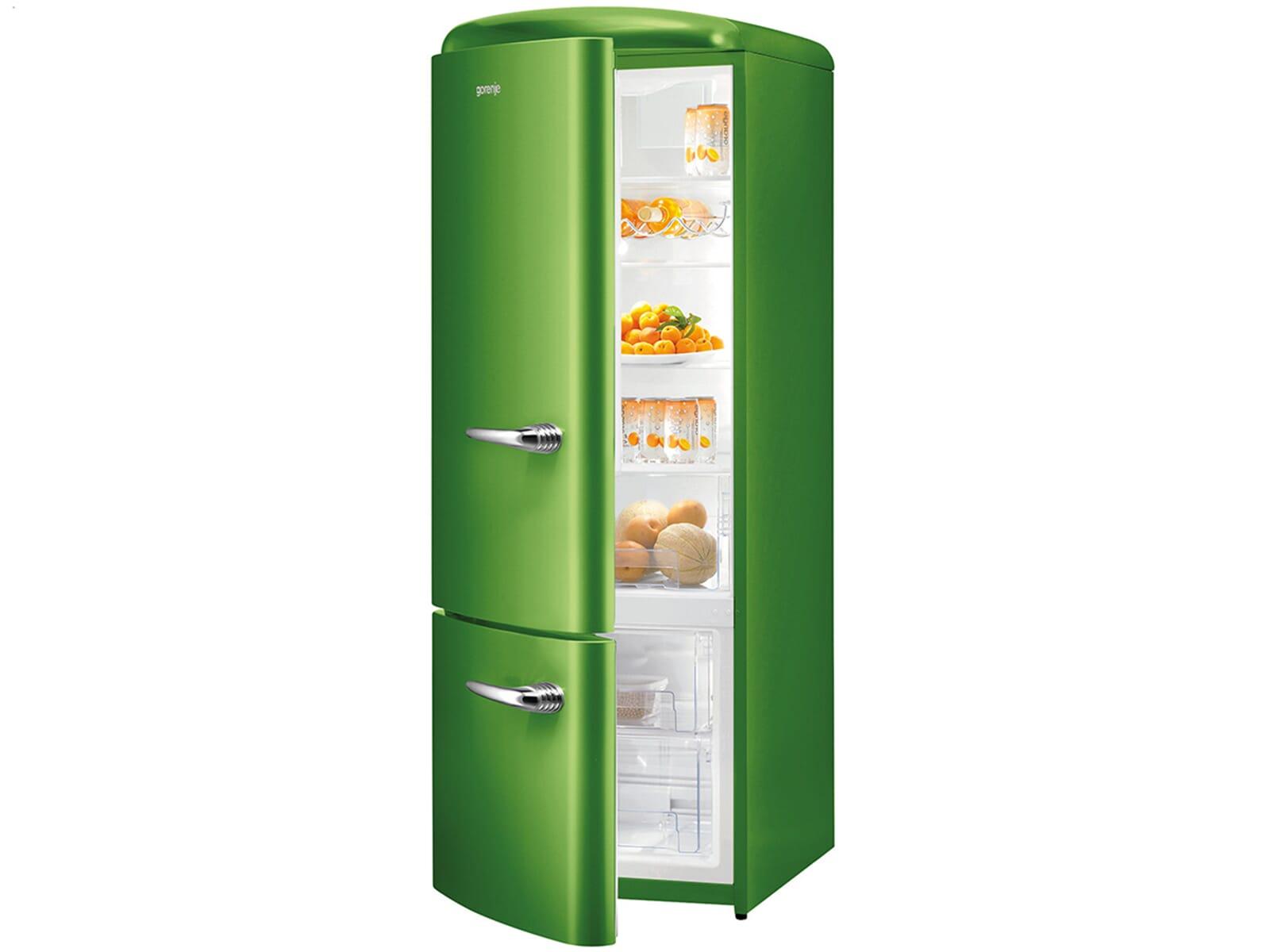 gorenje rk 60319 ogr l stand k hl gefrier kombination lime green k hlger t gr n ebay. Black Bedroom Furniture Sets. Home Design Ideas