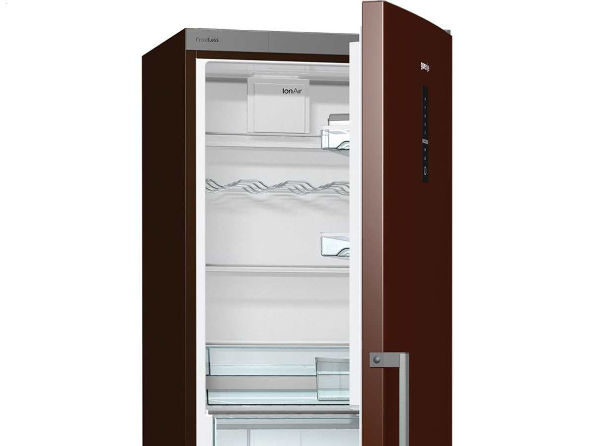 gorenje rk 6193 lch stand k hl gefrier kombination braun k hlschrank chocolate ebay. Black Bedroom Furniture Sets. Home Design Ideas