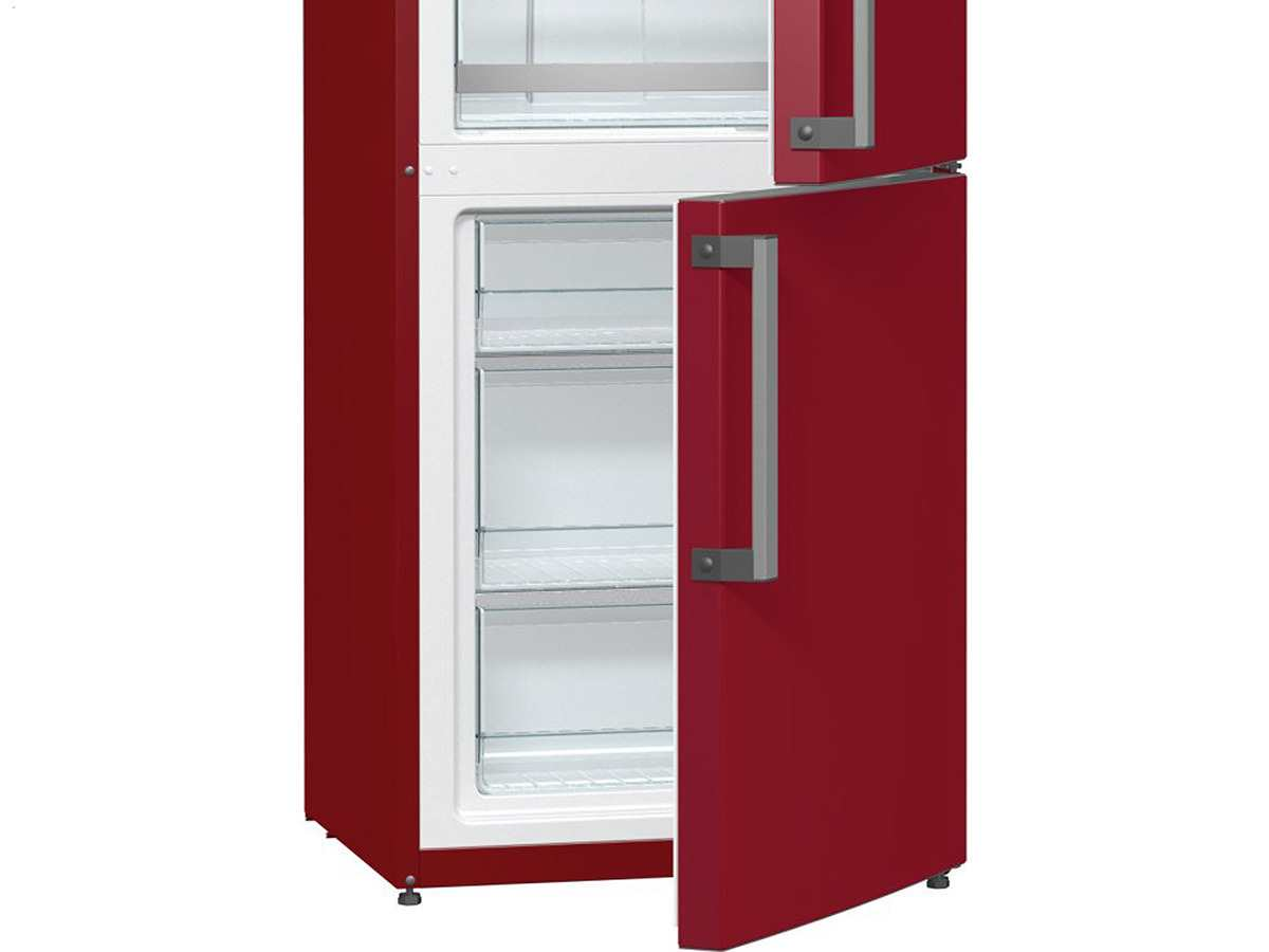 gorenje rk 6193 lr stand k hl gefrier kombination burgundy rot k hlger t ebay. Black Bedroom Furniture Sets. Home Design Ideas