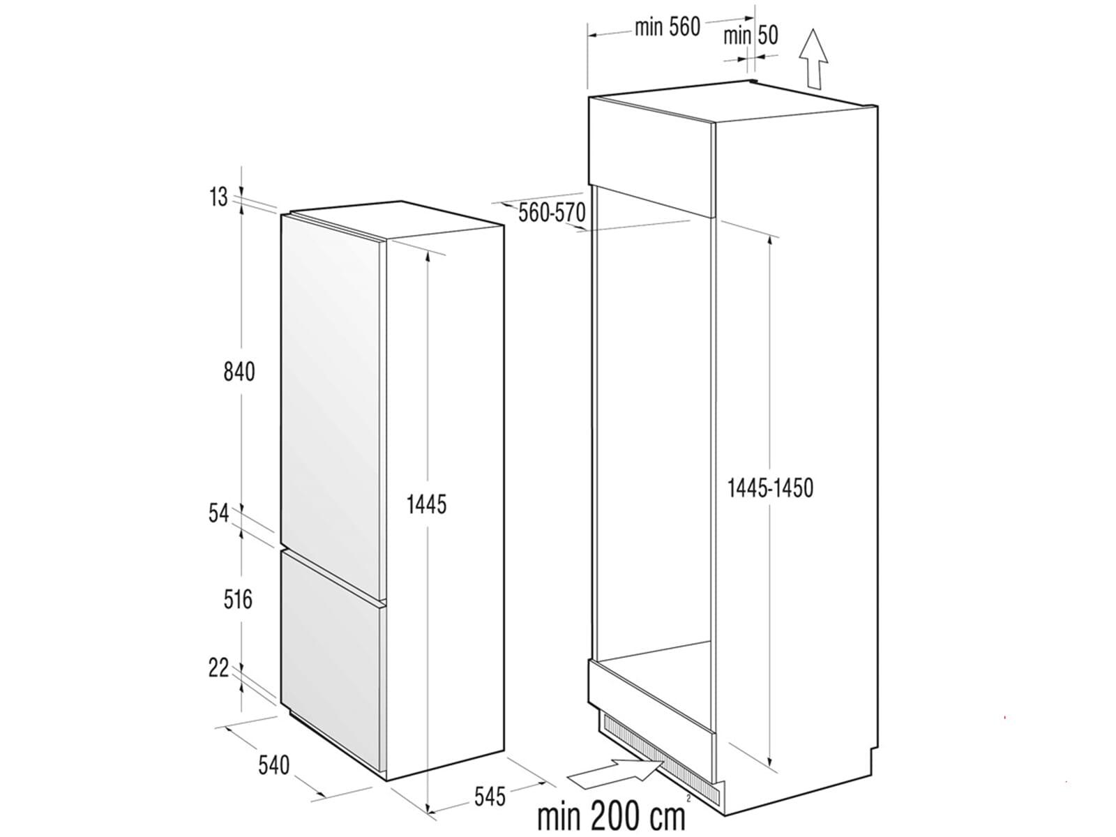gorenje rki 4151 aw einbau k hl gefrier kombination. Black Bedroom Furniture Sets. Home Design Ideas