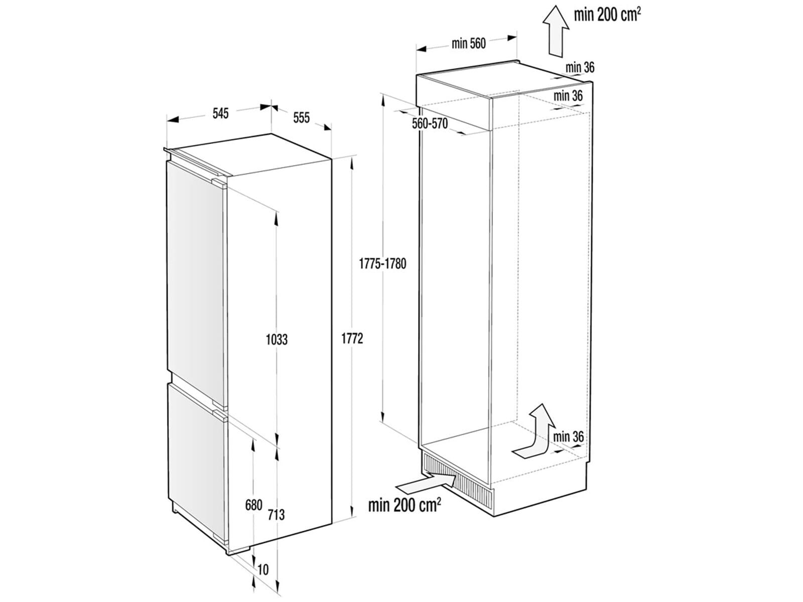 gorenje rki 5182 e1 einbau k hl gefrierkombination. Black Bedroom Furniture Sets. Home Design Ideas