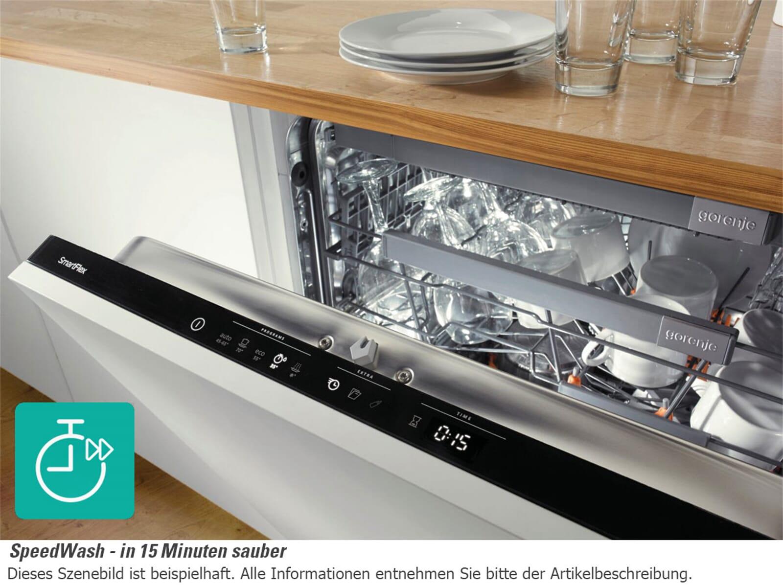 Gorenje GV 66160 Vollintegrierbarer Einbau Geschirrspüler  ~ Geschirrspülmaschine Teilintegrierbar