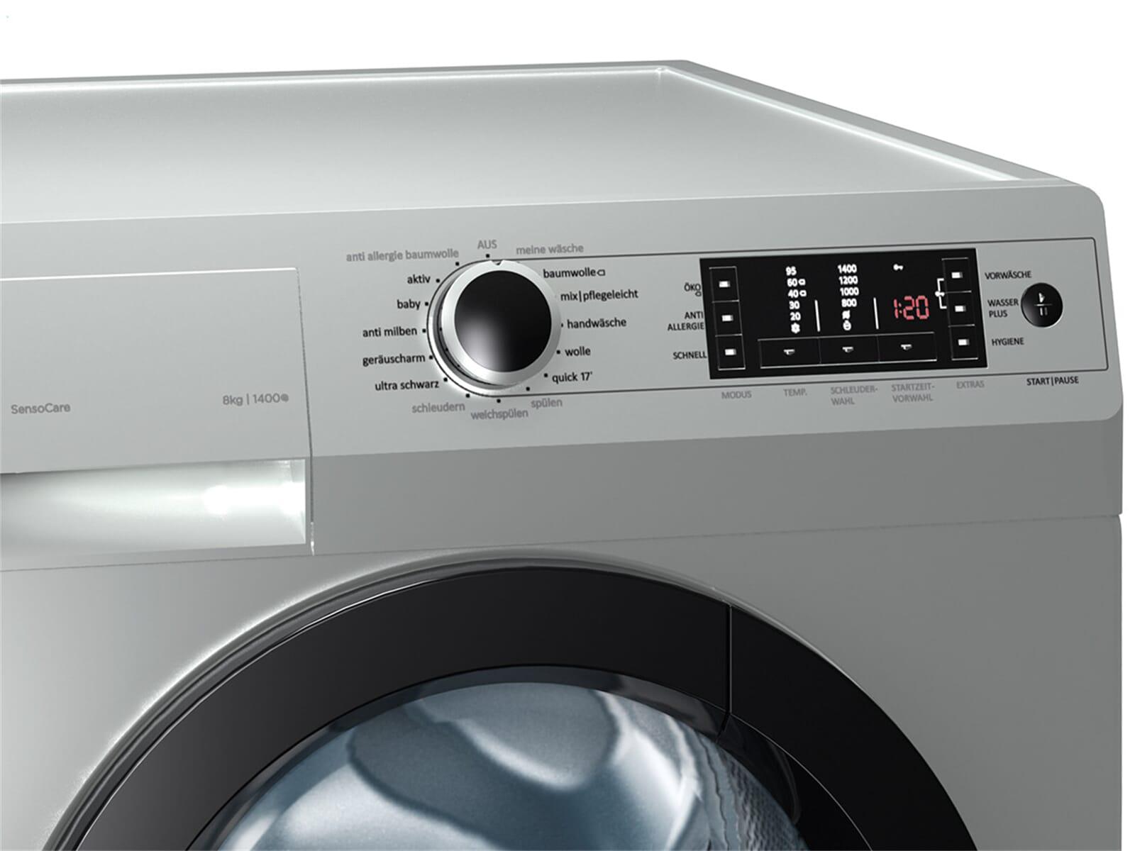 gorenje w 8543 ta stand waschmaschine silber waschvollautomat ebay. Black Bedroom Furniture Sets. Home Design Ideas