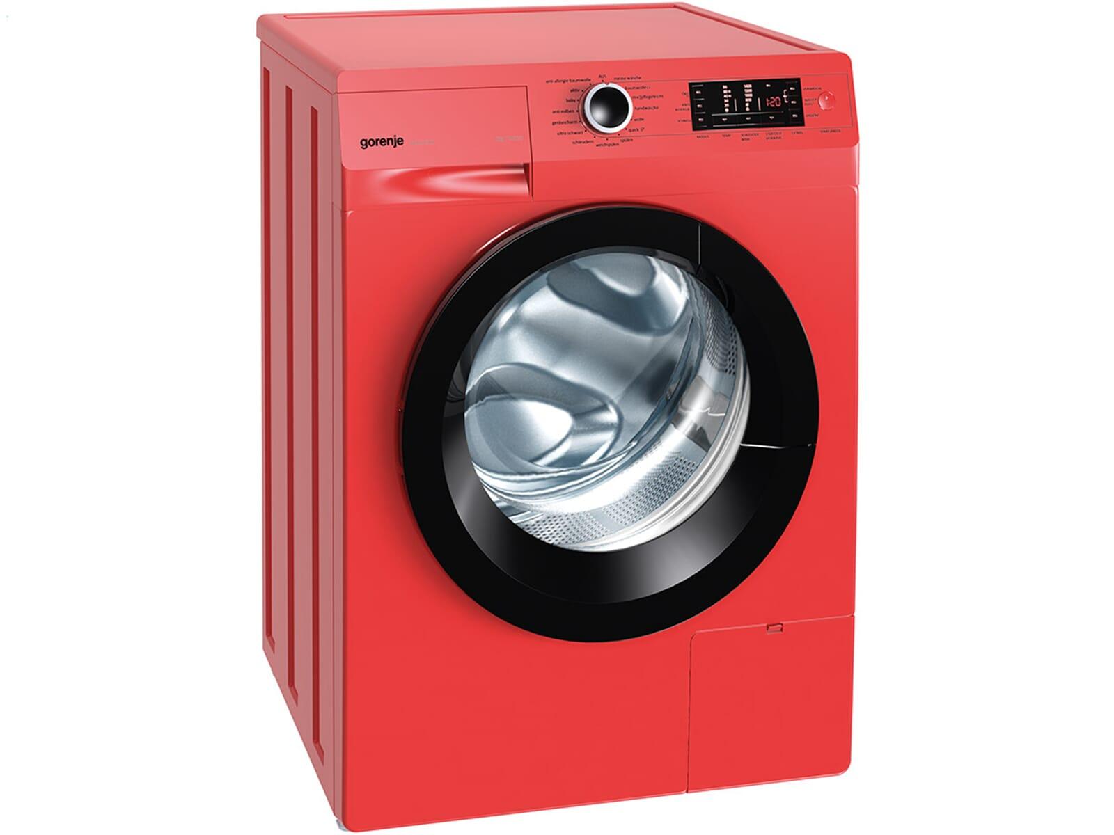 gorenje w 8543 tr stand waschmaschine feuerrot. Black Bedroom Furniture Sets. Home Design Ideas
