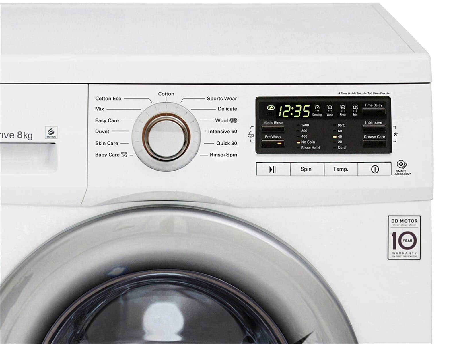 lg f 14b8 tda7 stand waschmaschine wei waschvollautomat 8 kg ebay. Black Bedroom Furniture Sets. Home Design Ideas