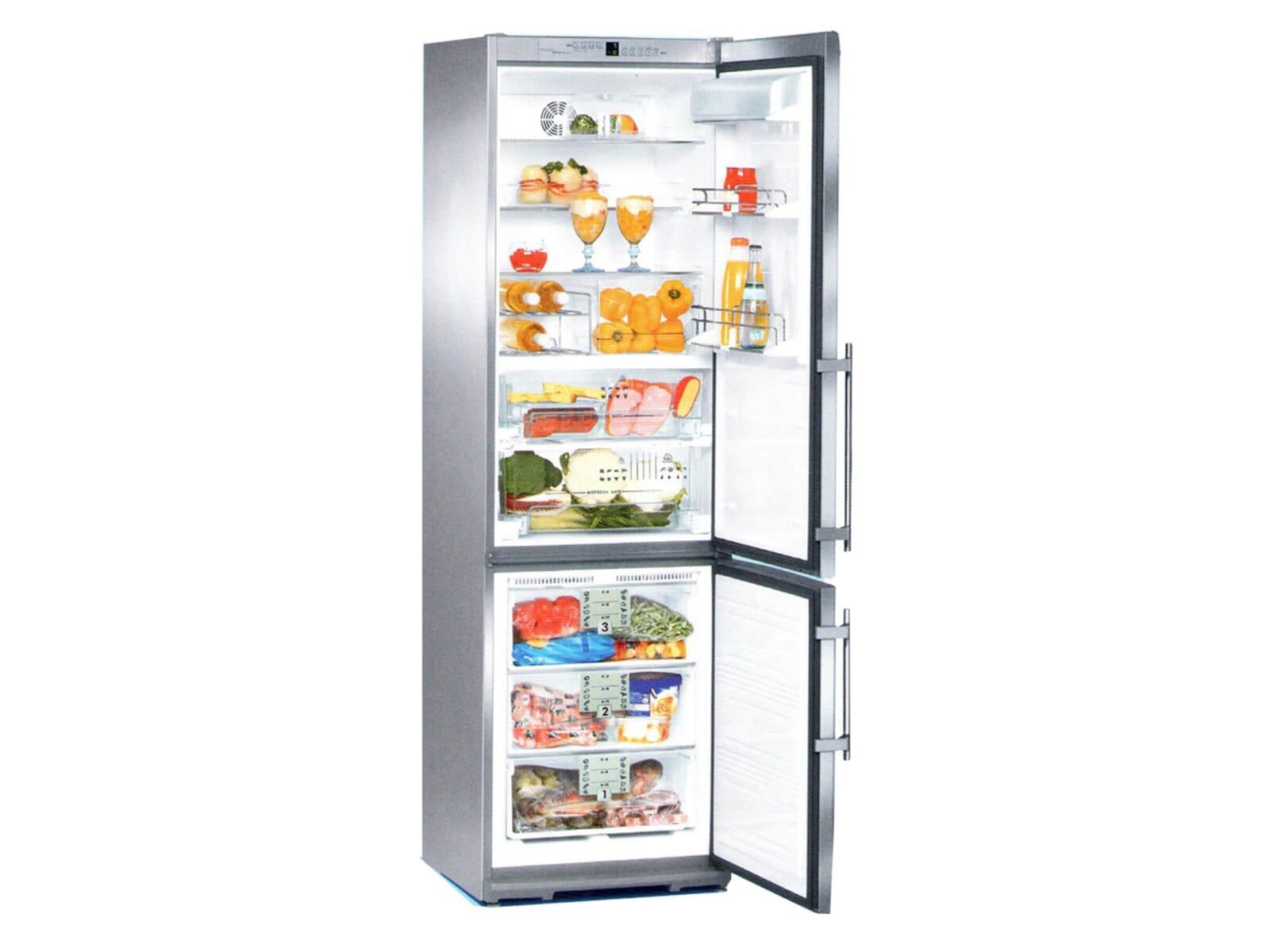 Liebherr CBNes3856 Premium Stand Kühl-Gefrier-Kombination, Edelstahl, Energieeffizienzklasse B, SwingLine-Design, EEK: B