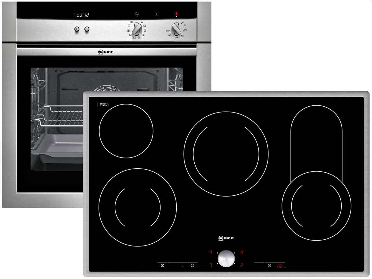 neff set backofen mega bm 1542 n eu glaskeramik kochfeld tt 1384 n f r 1078 90 eur shop. Black Bedroom Furniture Sets. Home Design Ideas