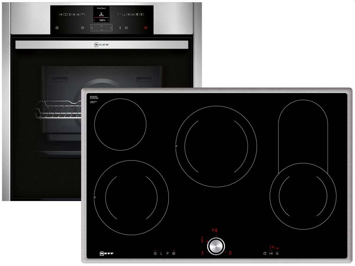 neff backofen set basic 811 backofen herd elektrokochstelle kochfeld ofen k che ebay. Black Bedroom Furniture Sets. Home Design Ideas