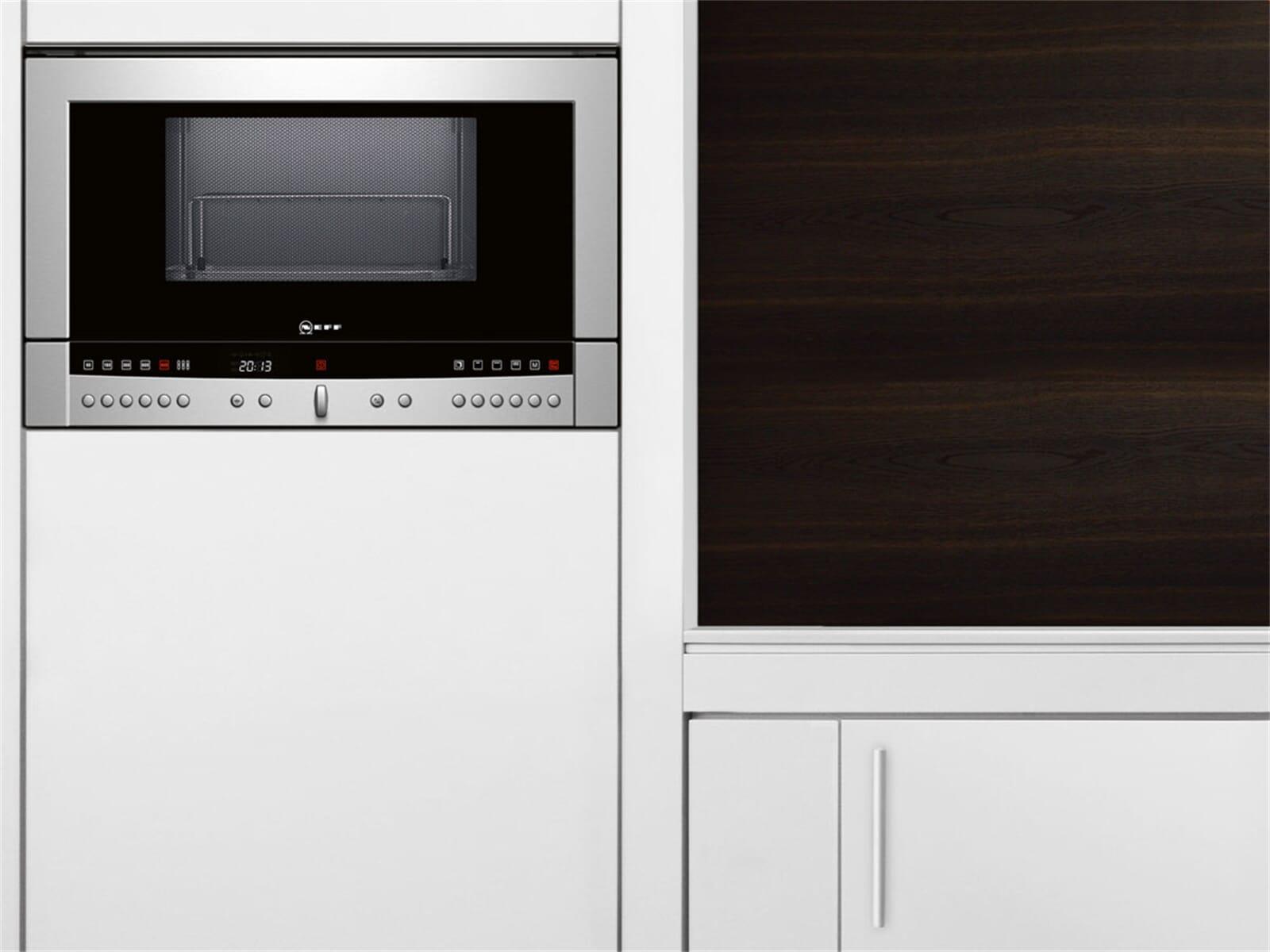 neff cr 5470 n einbau mikrowelle edelstahl grill oberschrank hochschrank 38cm ebay. Black Bedroom Furniture Sets. Home Design Ideas