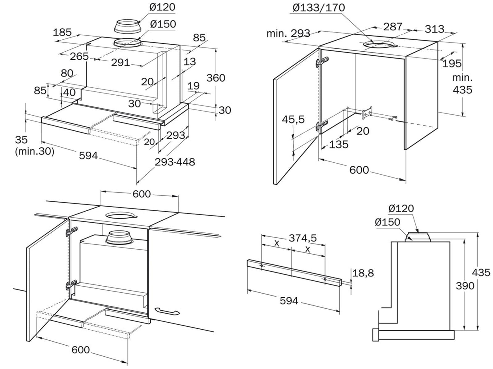 neff da 86 b flachschirm dunstabzugshaube silbermetallic f r 334 90 eur. Black Bedroom Furniture Sets. Home Design Ideas