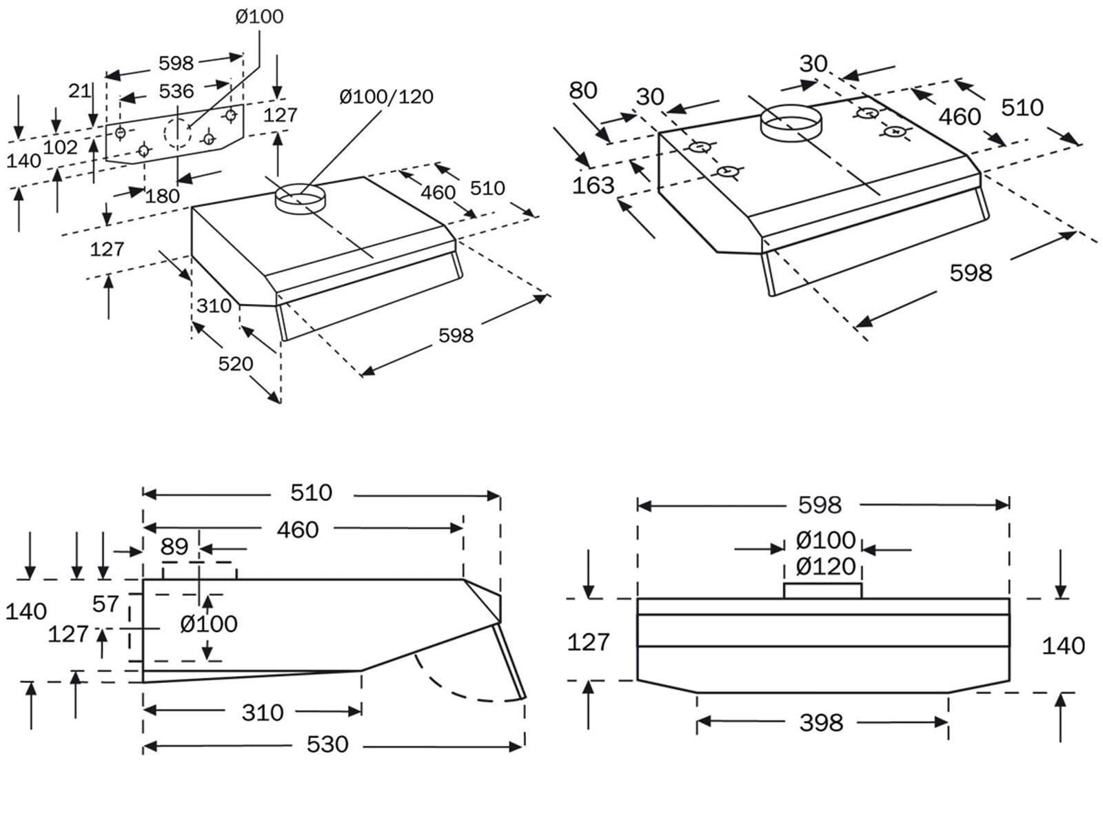 neff du 50 unterbau dunstabzugshaube braun f r 178 90 eur. Black Bedroom Furniture Sets. Home Design Ideas