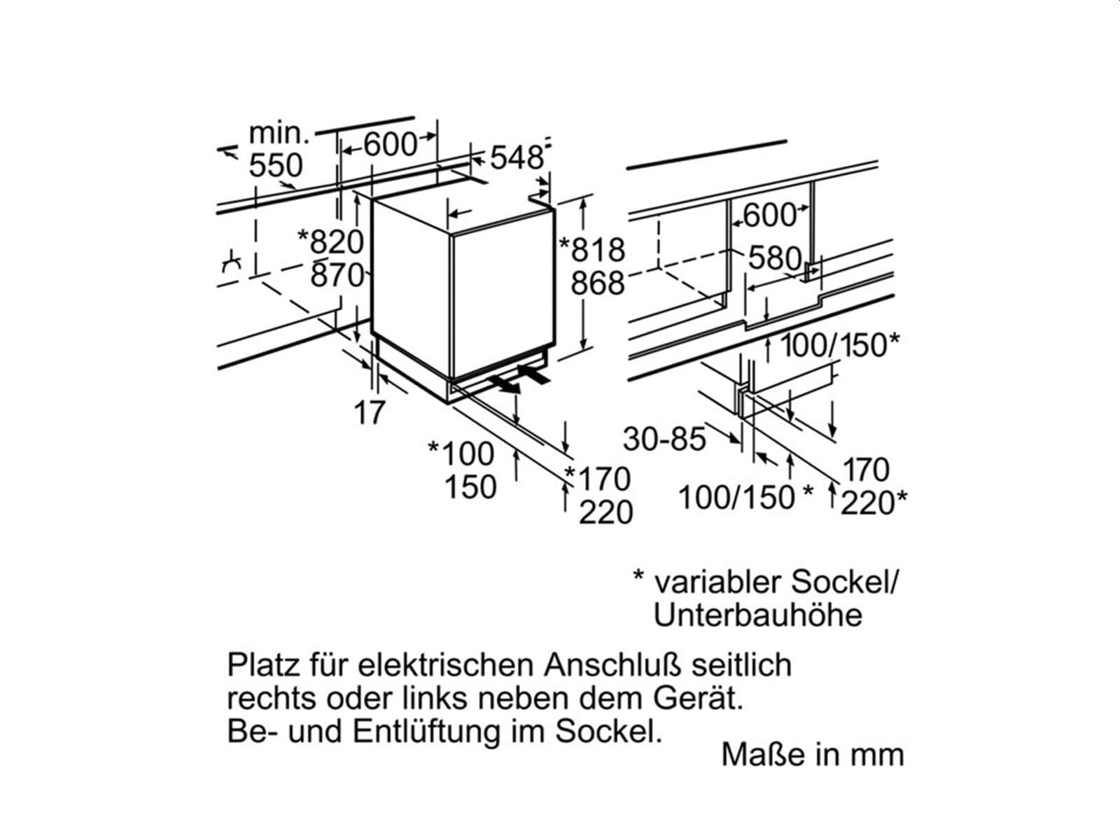 neff ku 216 a2 unterbau k hlschrank f r 468 90 eur. Black Bedroom Furniture Sets. Home Design Ideas