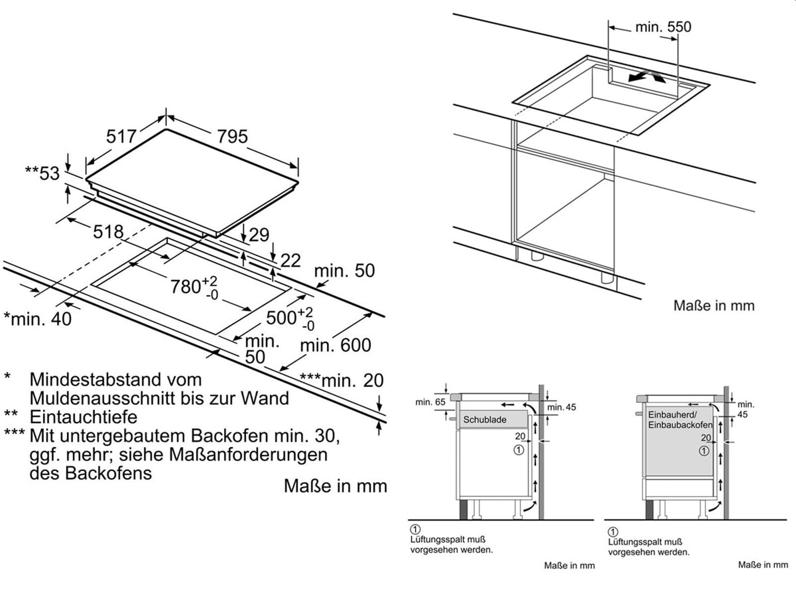 neff tbt 4800 n induktionskochfeld 80cm kochstelle autark k che herd glaskeramik. Black Bedroom Furniture Sets. Home Design Ideas