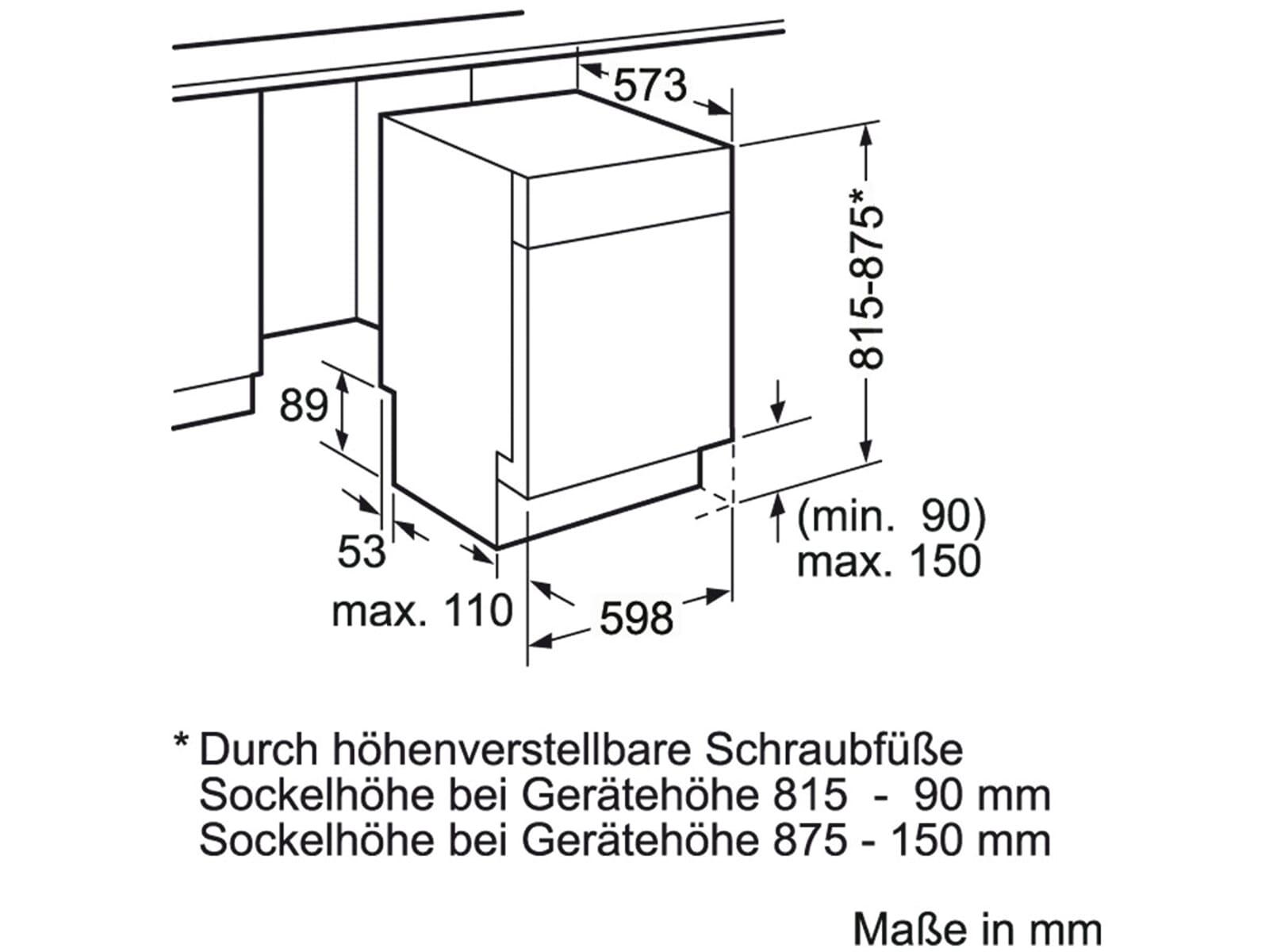 unterbau geschirrsp ler g3nu neff 60cm edelstahl. Black Bedroom Furniture Sets. Home Design Ideas