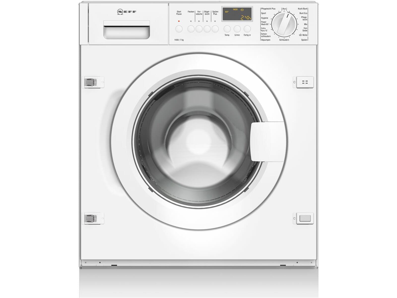 neff wv 544 einbauger t waschmaschine w5440x0 waschautomat frontlader 7 kg a ebay. Black Bedroom Furniture Sets. Home Design Ideas