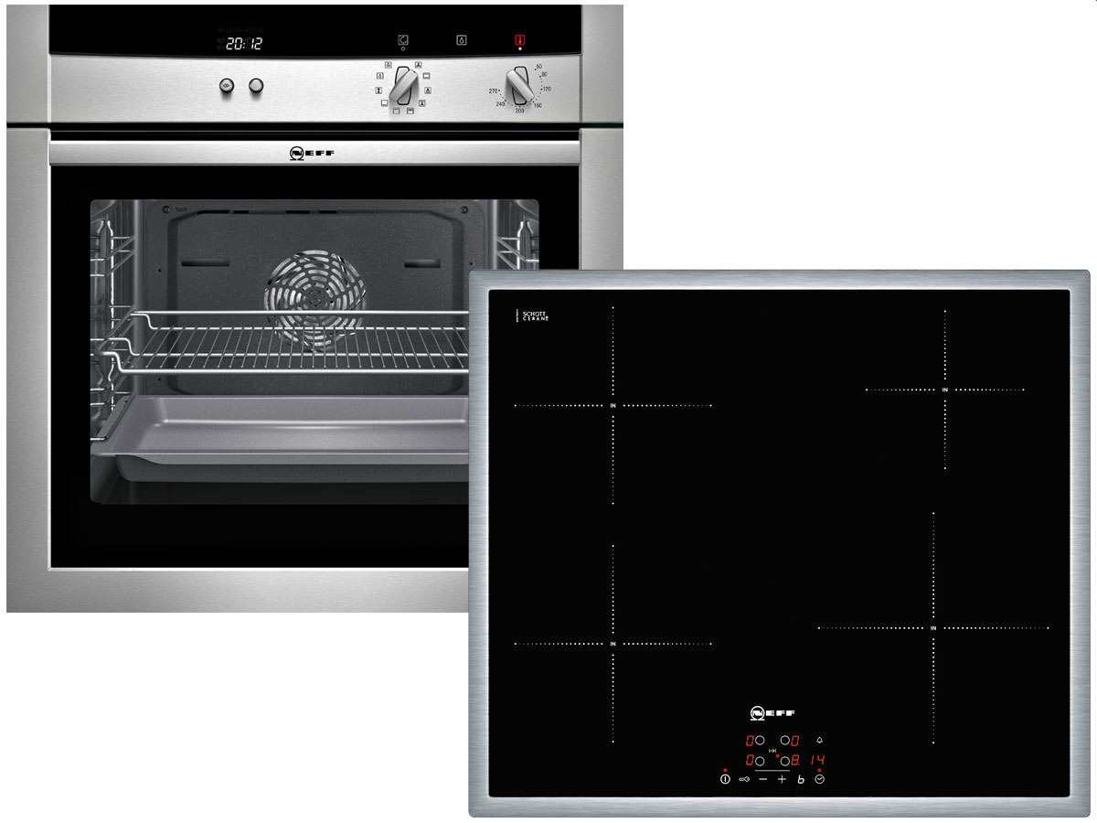 neff set x6001 backofen mega bm 1542 n eu induktion. Black Bedroom Furniture Sets. Home Design Ideas
