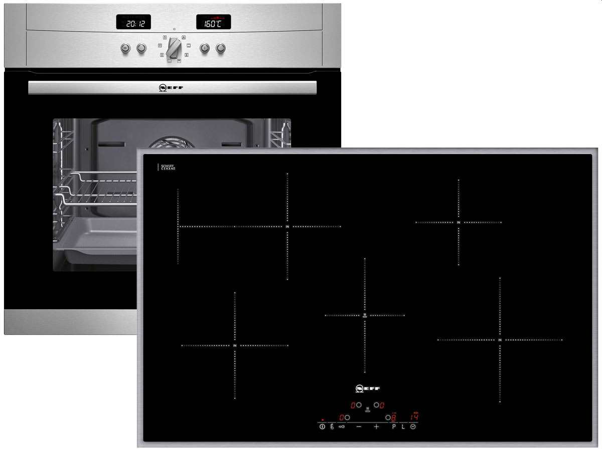neff x80bp4 set pyrolyse backofen bp 1842 n induktion glaskeramik kochfeld td ebay. Black Bedroom Furniture Sets. Home Design Ideas
