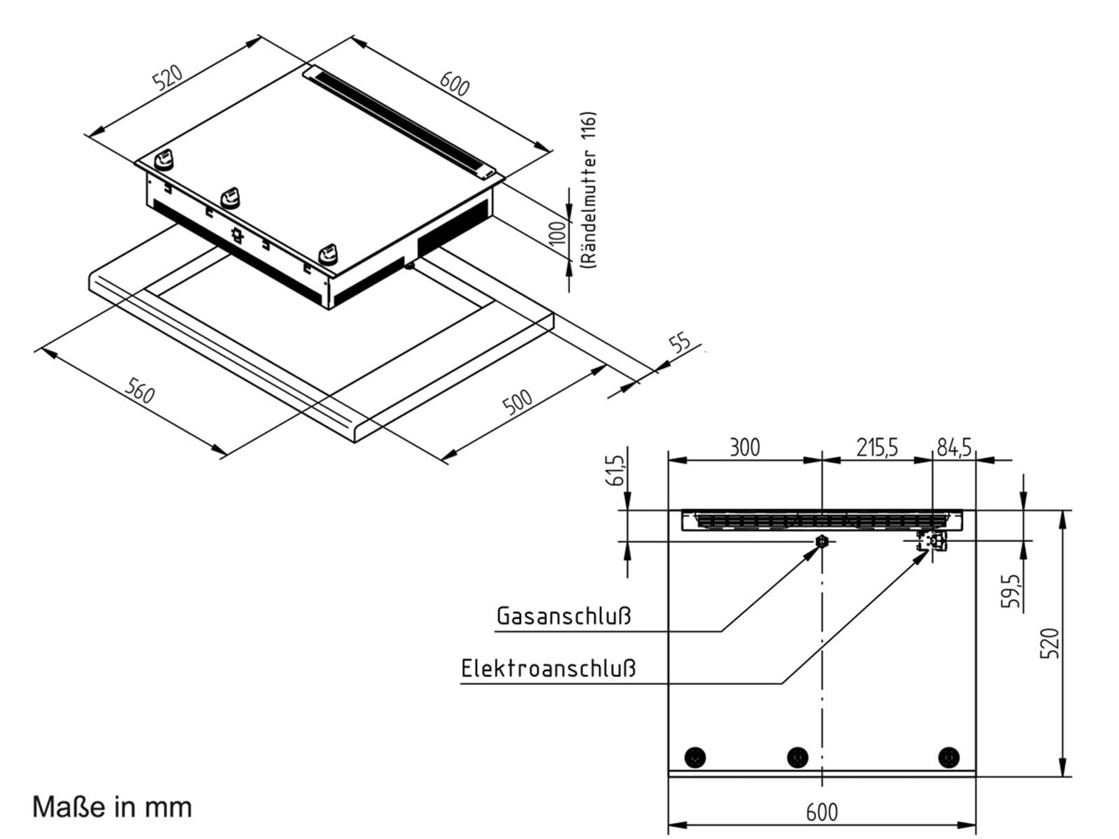 oranier ekg 2736 2736 18 glaskeramik gas kochstelle autark kochfeld einbau ebay. Black Bedroom Furniture Sets. Home Design Ideas