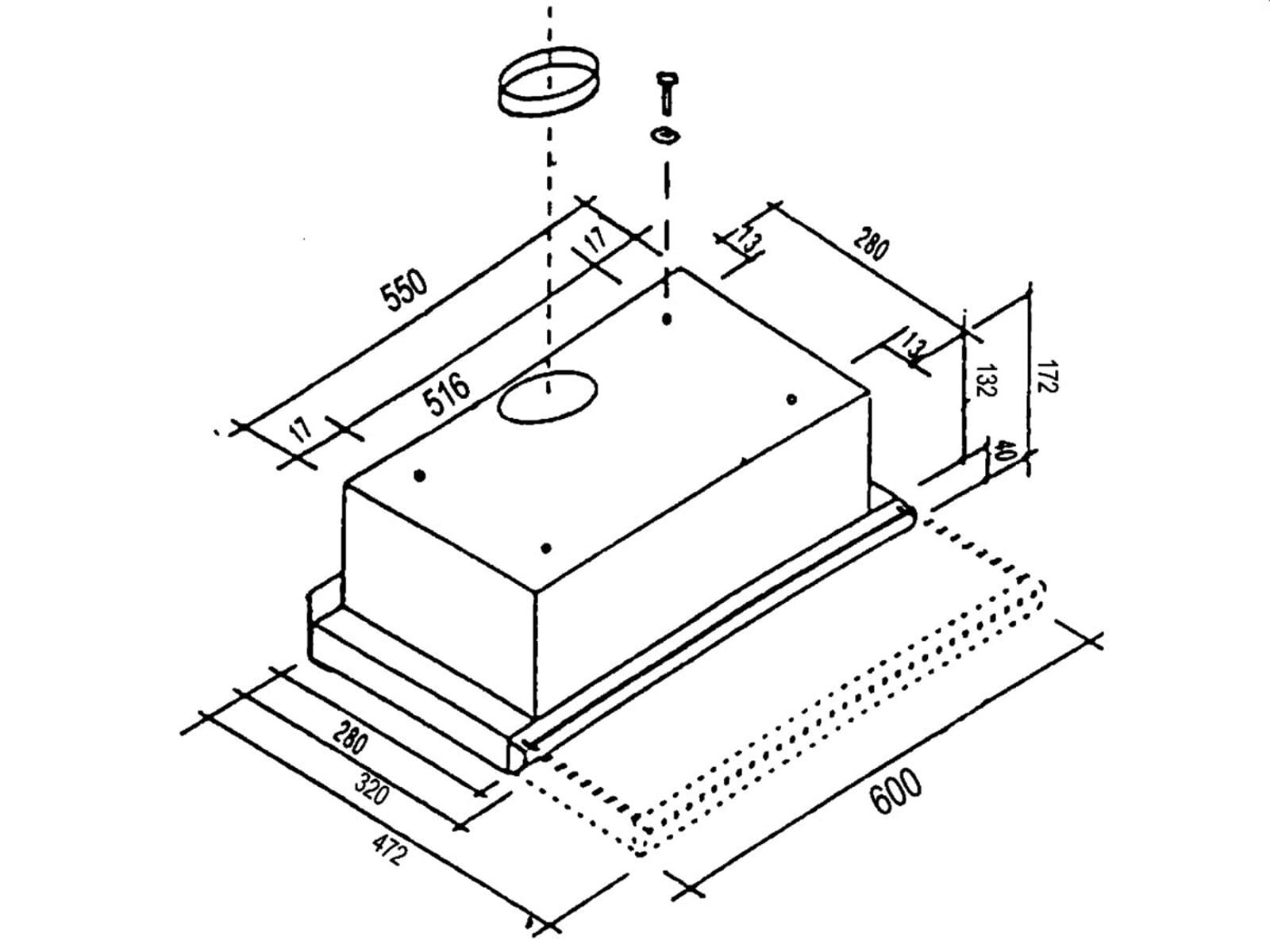 oranier fla 3 60 8839 04 flachschirm dunstabzug aluminium flachl fter umluft ebay. Black Bedroom Furniture Sets. Home Design Ideas
